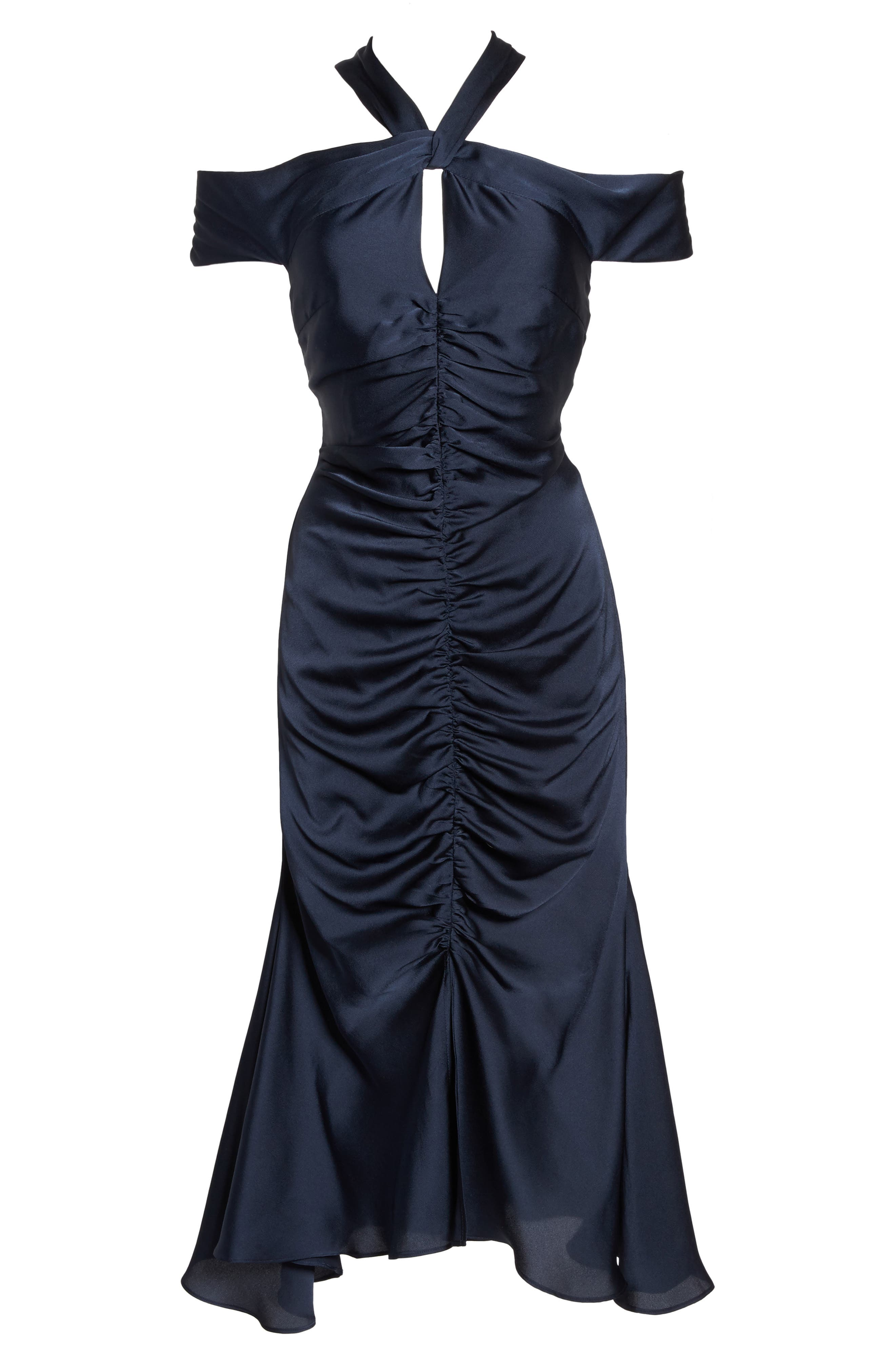 Dark Paradise Strappy Back Ruched Midi Dress,                             Alternate thumbnail 6, color,                             410