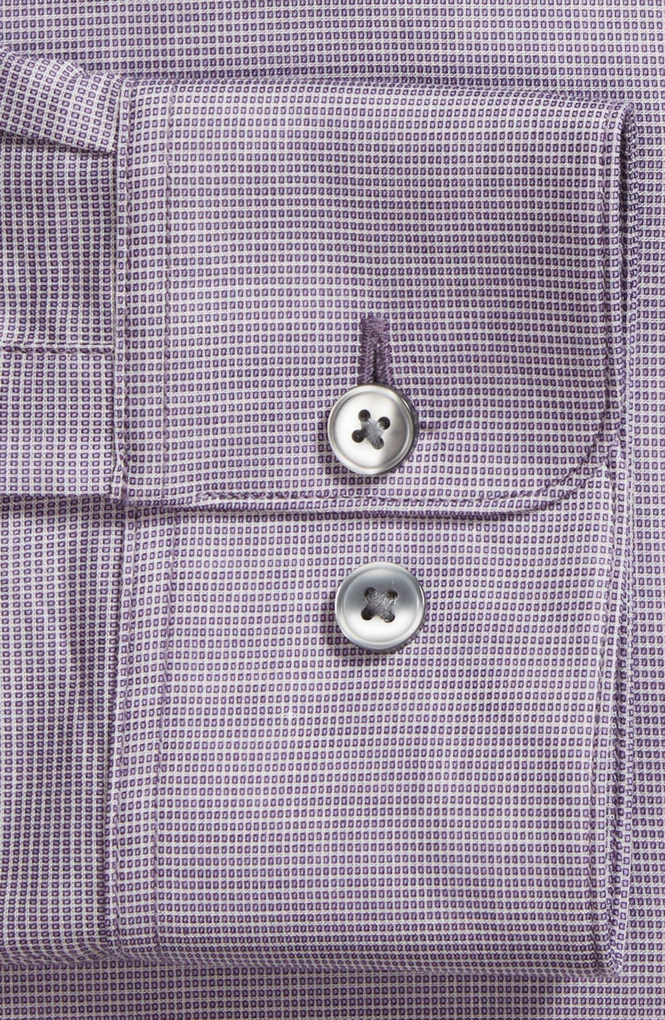 Slim Fit Stretch Microdot Dress Shirt,                             Alternate thumbnail 6, color,                             505