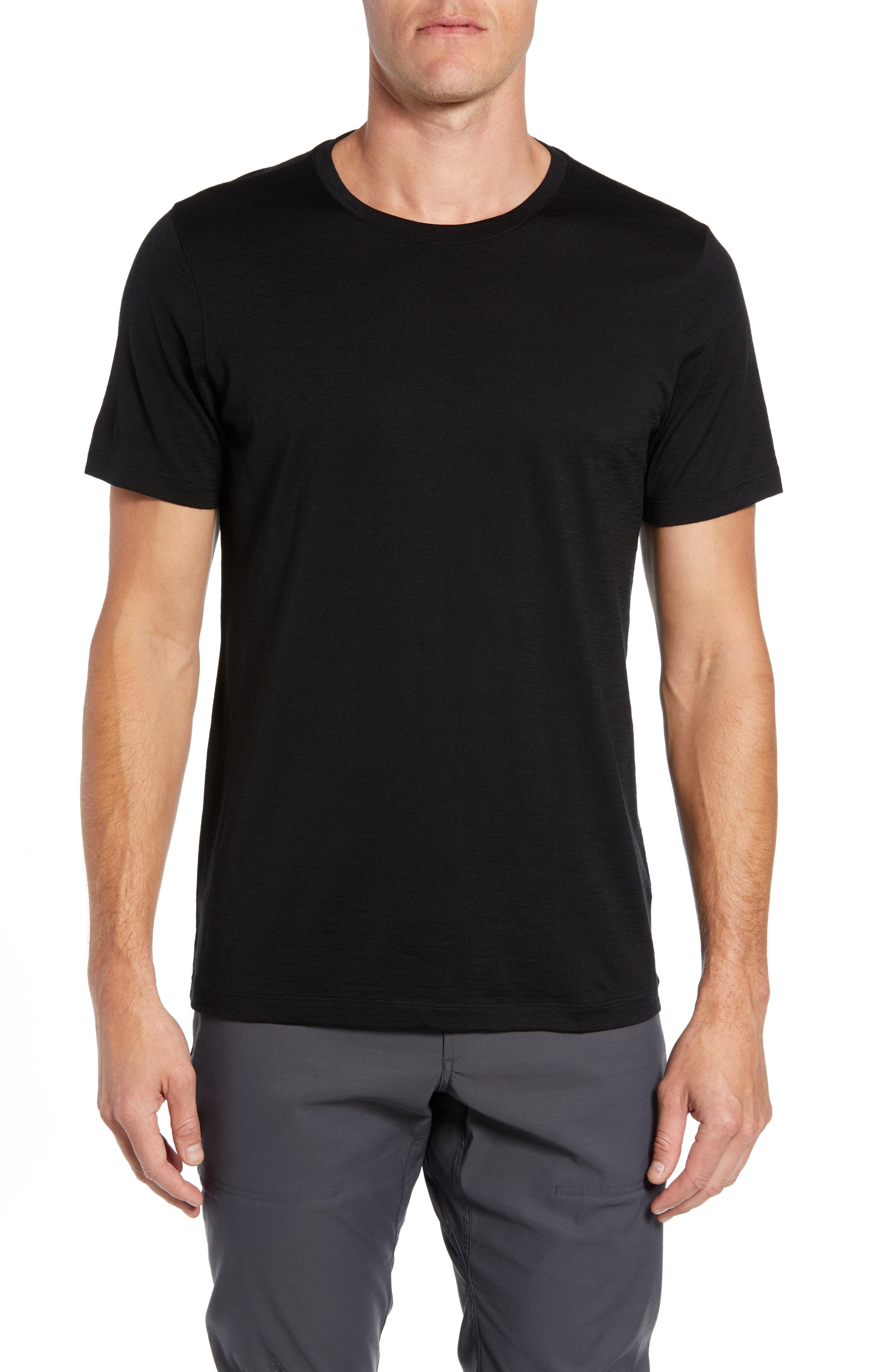 Tech Lite Short Sleeve Crewneck T-Shirt,                         Main,                         color, BLACK