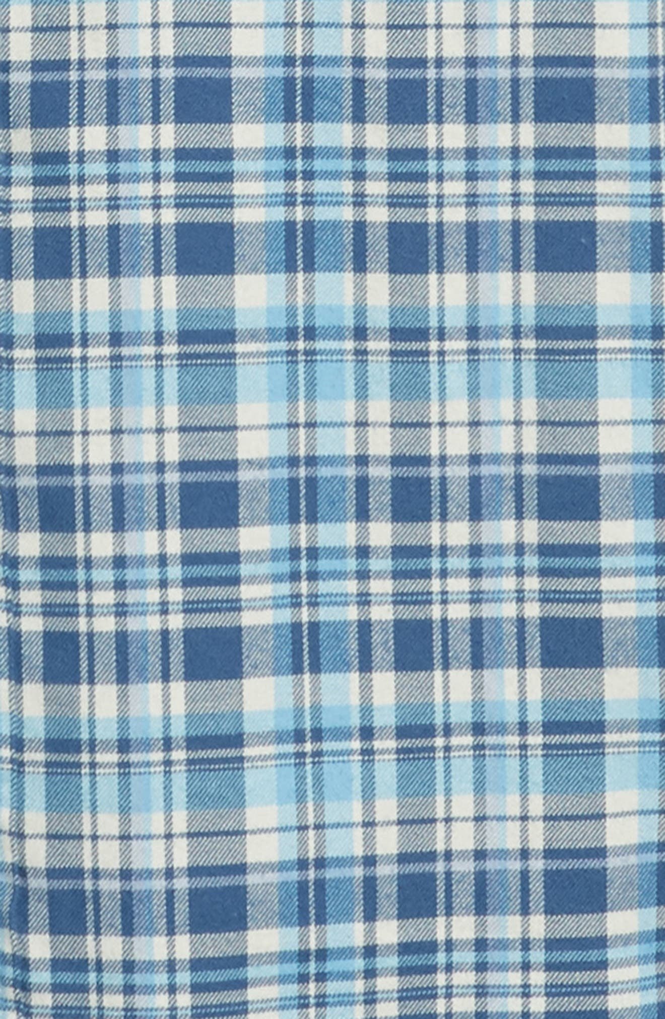 Mill Hill Regular Fit Plaid Flannel Shirt,                             Alternate thumbnail 6, color,                             MOONSHINE