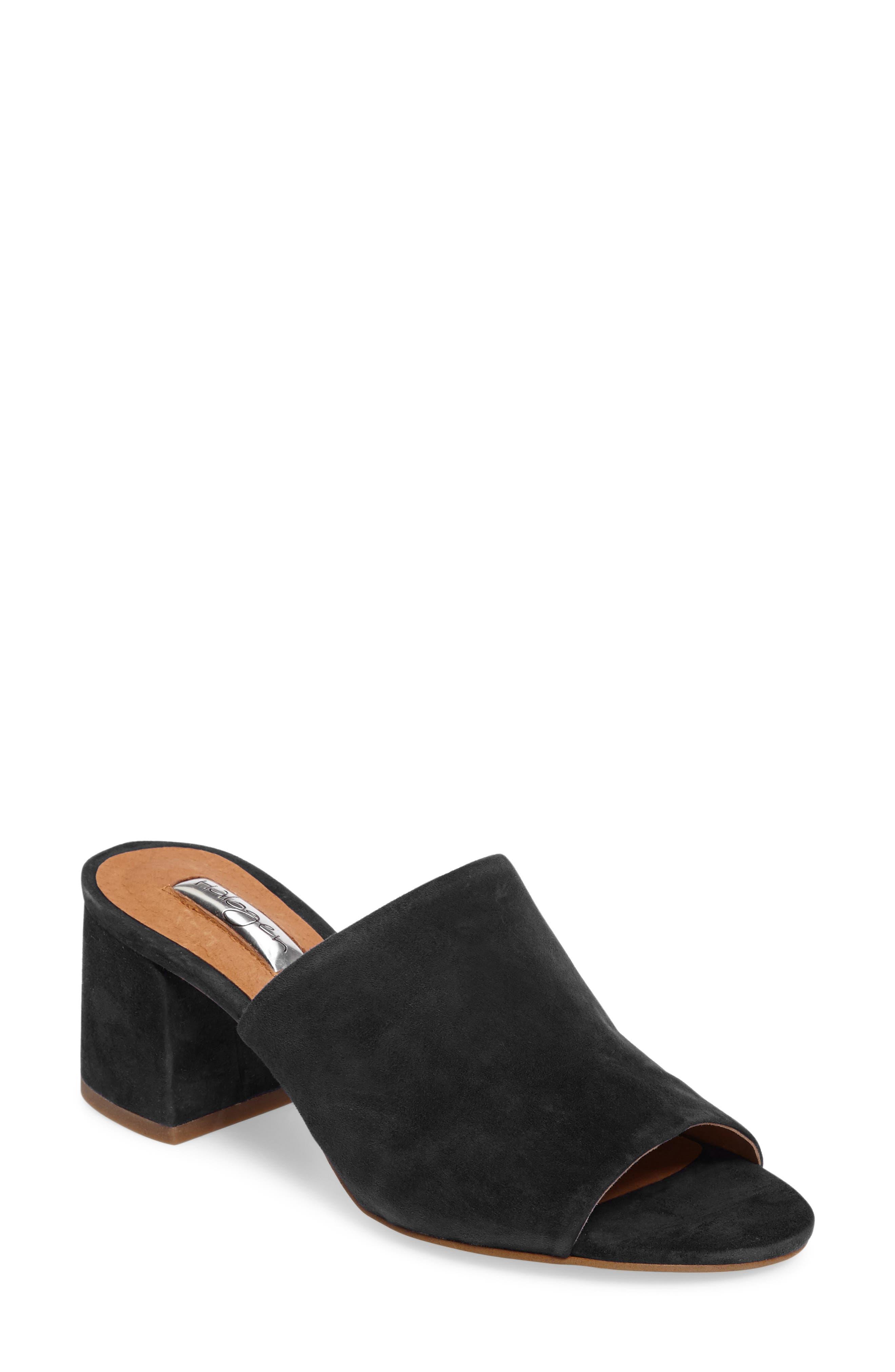 Freda Slide Sandal,                         Main,                         color, BLACK SUEDE