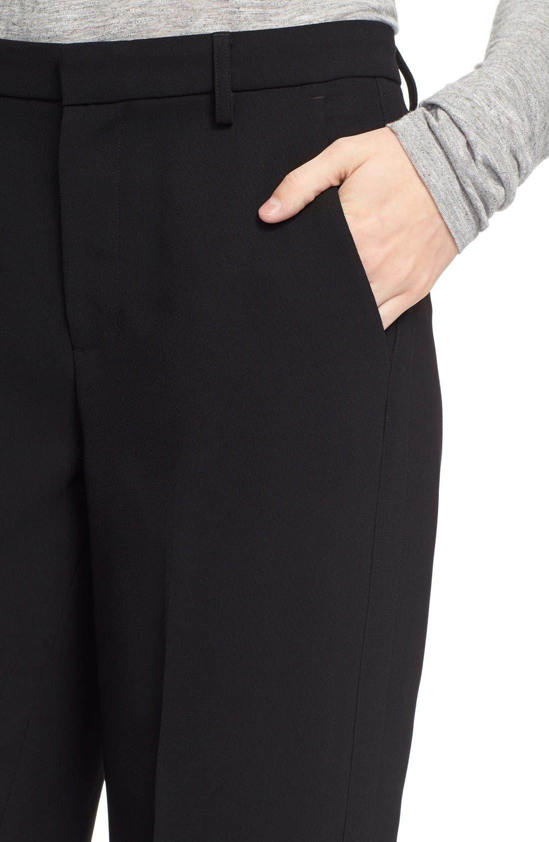 VINCE,                             Wide Leg Trousers,                             Alternate thumbnail 2, color,                             001