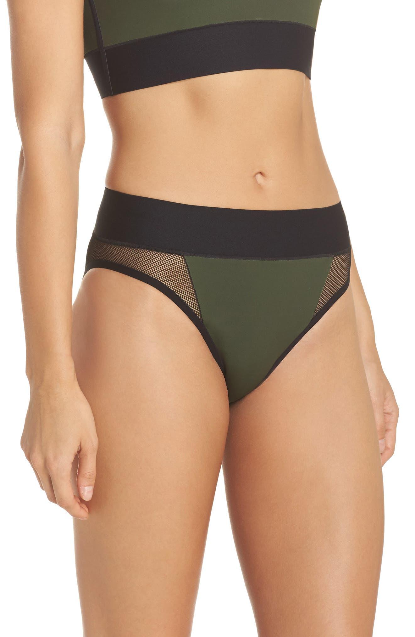 Reef Sport Mesh High-Waist Bikini Bottoms,                             Alternate thumbnail 3, color,                             302