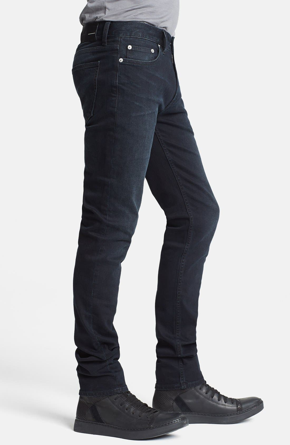 'Jeans 5' Slim Straight Leg Jeans,                             Alternate thumbnail 4, color,                             001