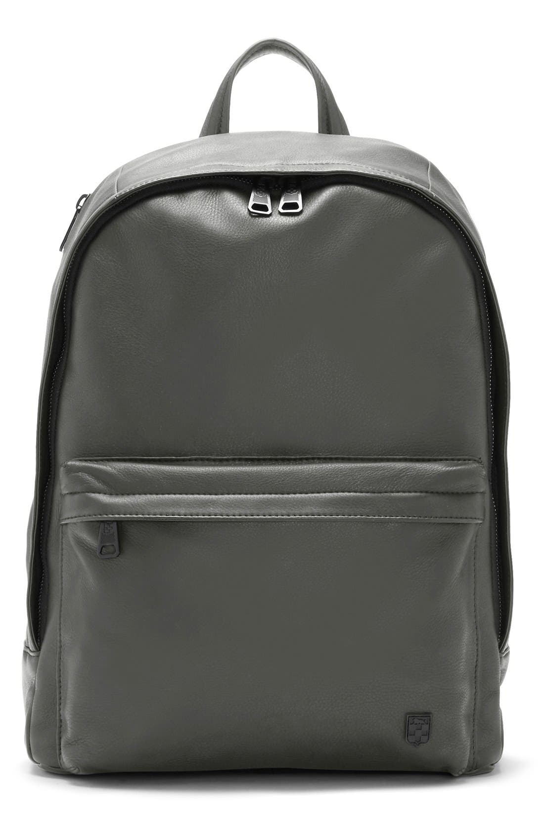 'Tolve' Leather Backpack,                             Main thumbnail 1, color,                             021
