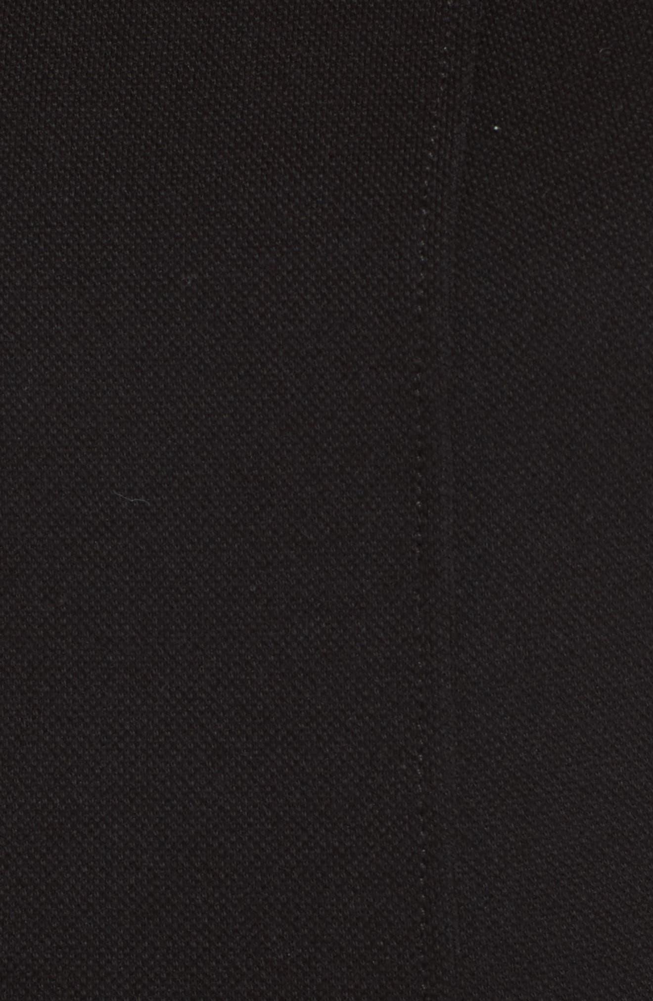 Piqué Fit & Flare Dress,                             Alternate thumbnail 5, color,                             001