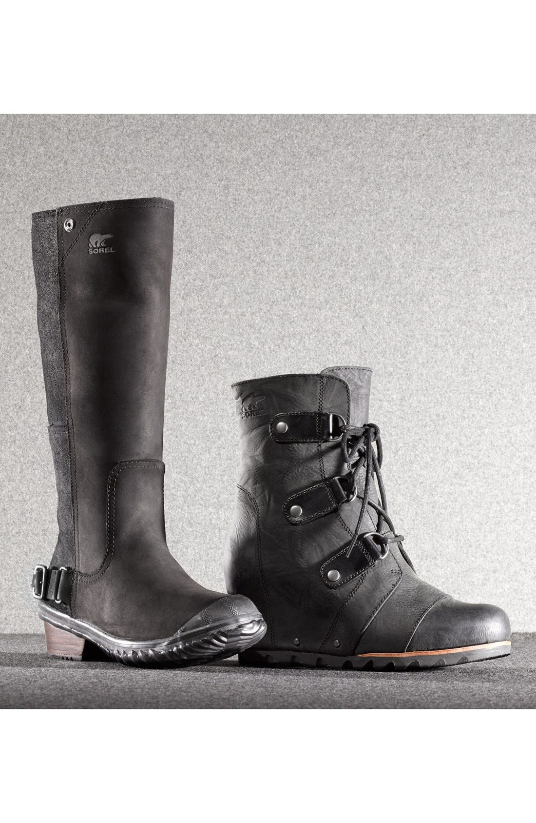 'Slim' Waterproof Tall Boot,                             Alternate thumbnail 5, color,                             008
