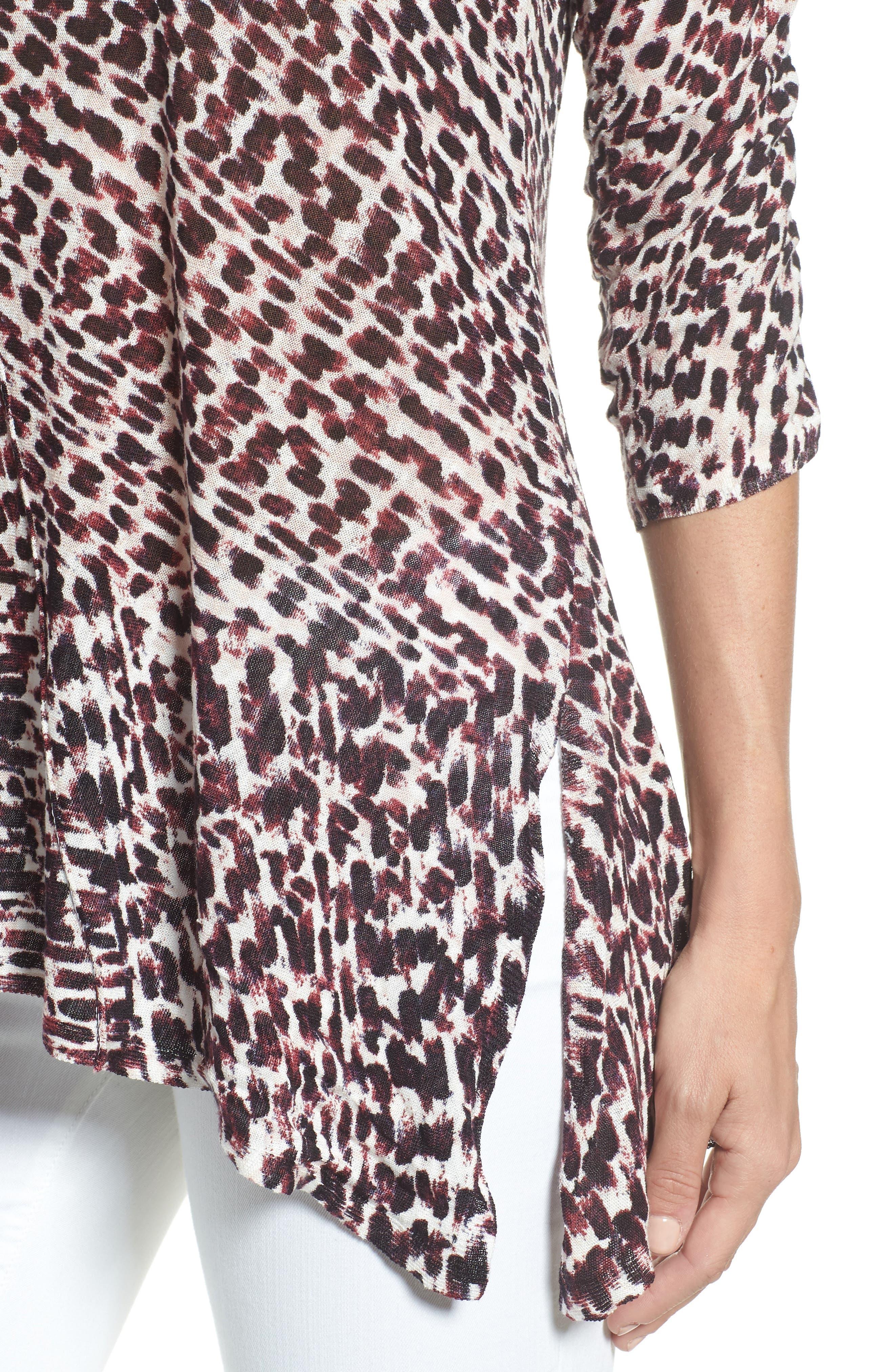 Ophelia Asymmetrical Linen Blend Swing Top,                             Alternate thumbnail 4, color,                             690
