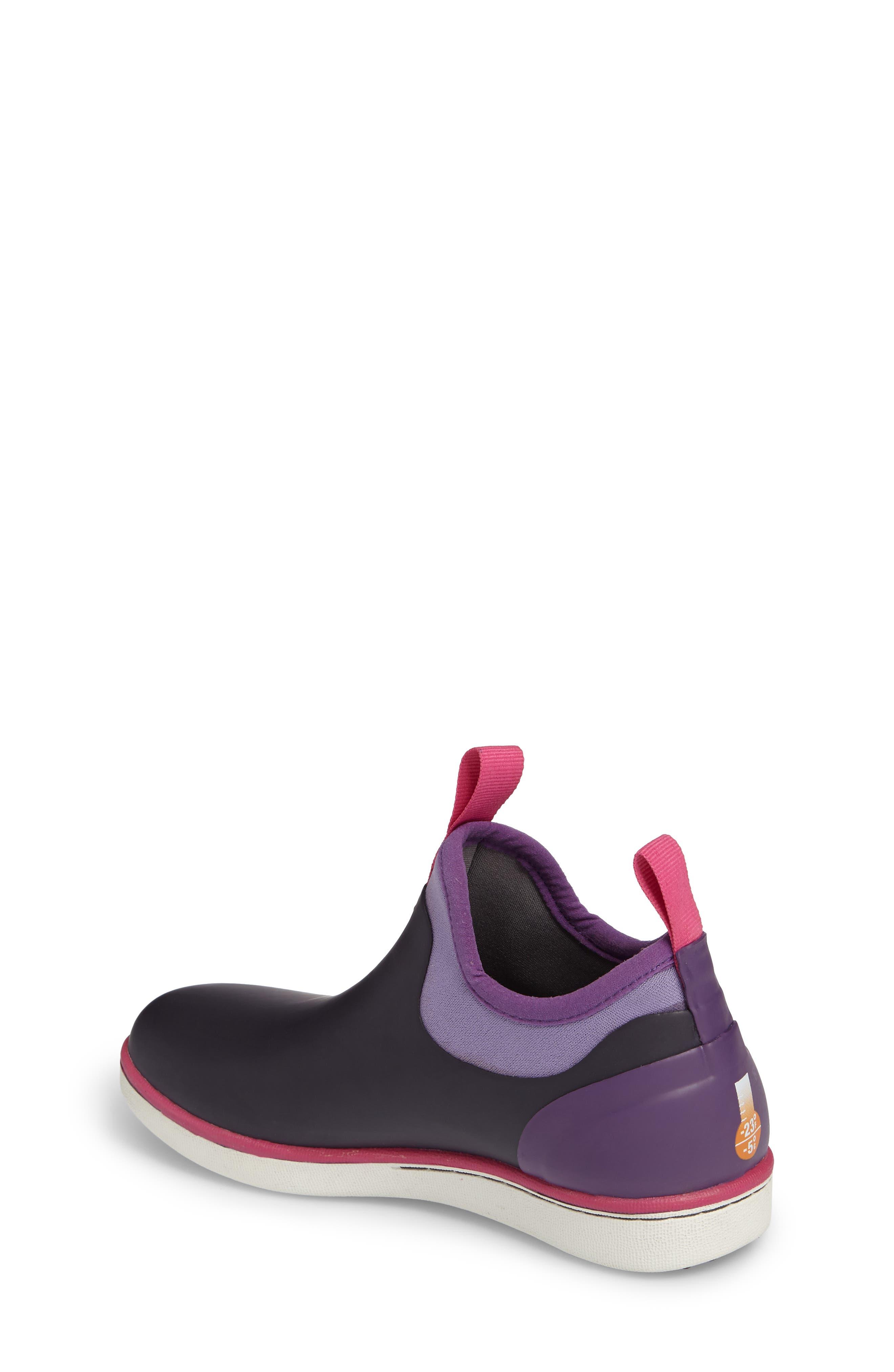 Riley Waterproof Sock Fit Boot,                             Alternate thumbnail 2, color,                             EGGPLANT MULTI