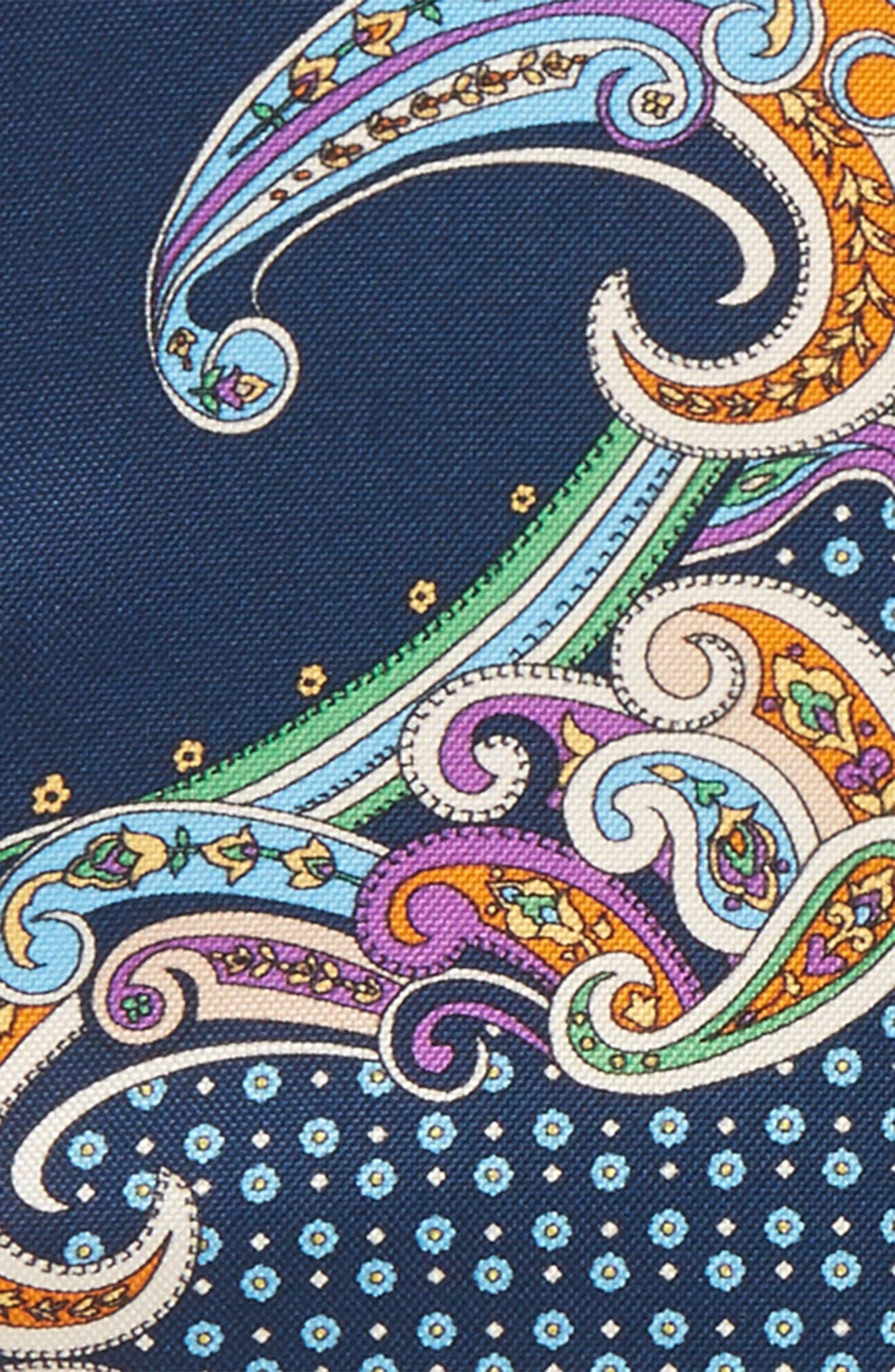 Paisley Silk Pocket Square,                             Alternate thumbnail 6, color,
