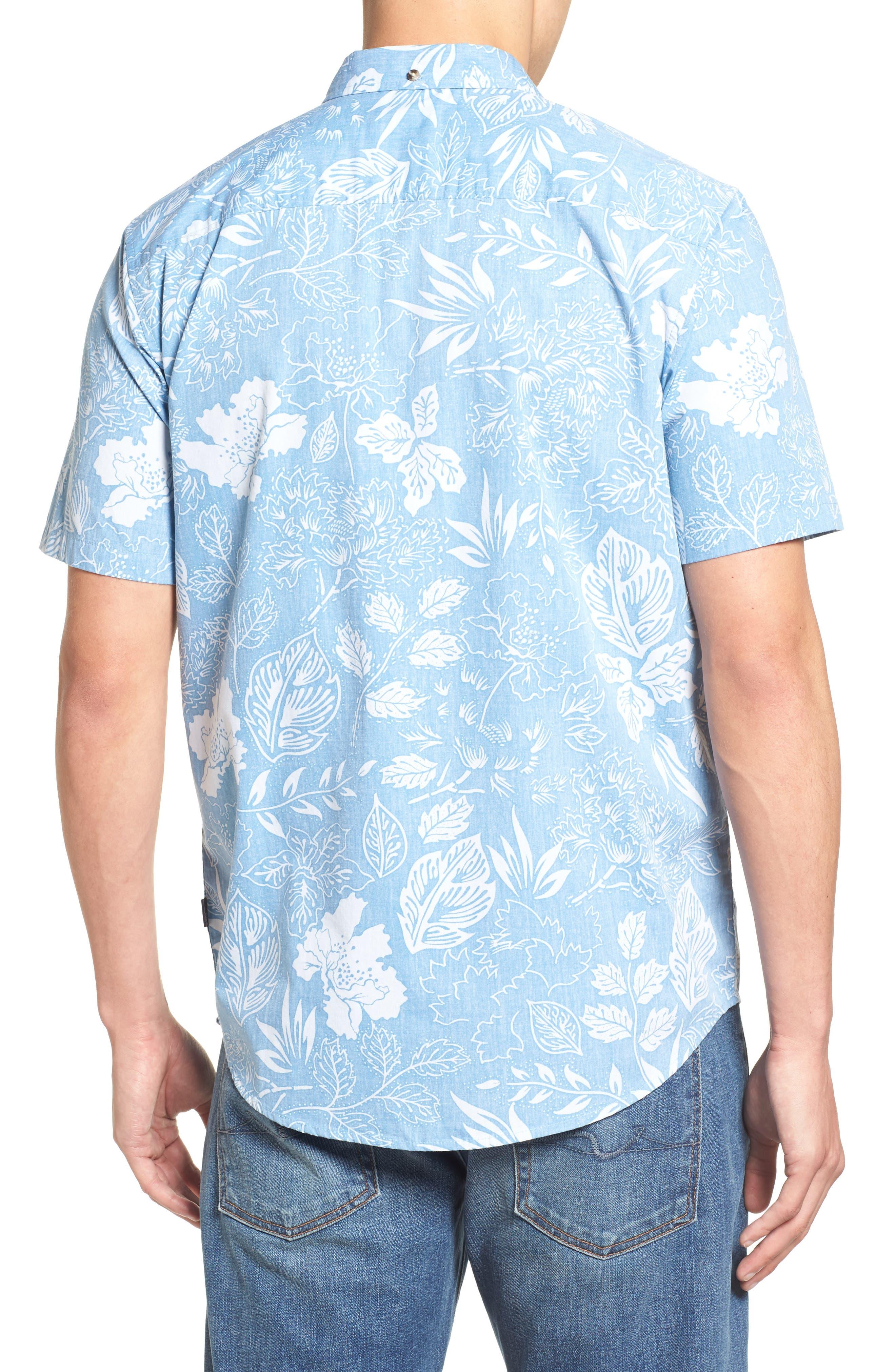 Samoa Print Sport Shirt,                             Alternate thumbnail 4, color,