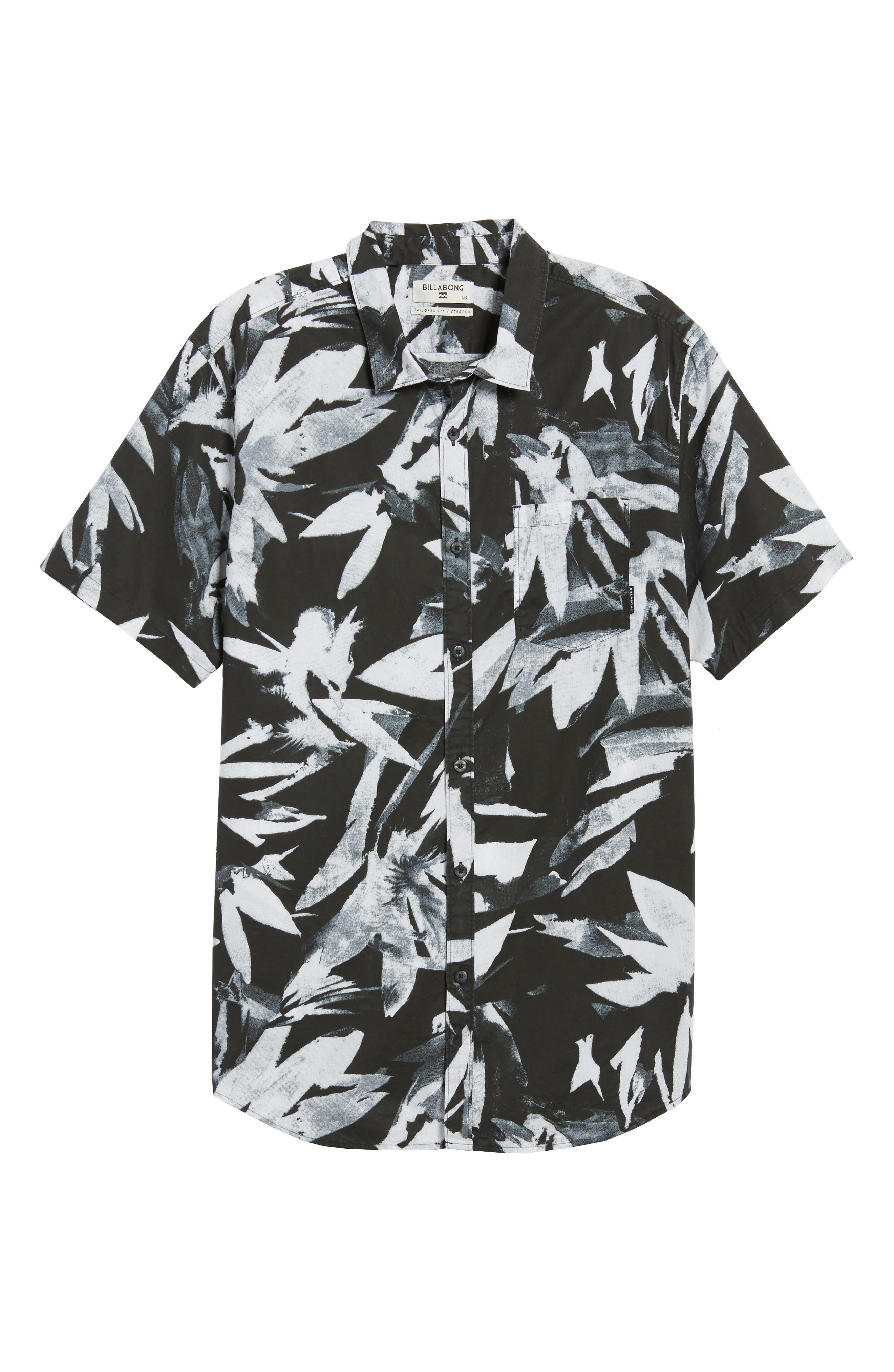 Sundays Floral Shirt,                             Alternate thumbnail 6, color,                             001