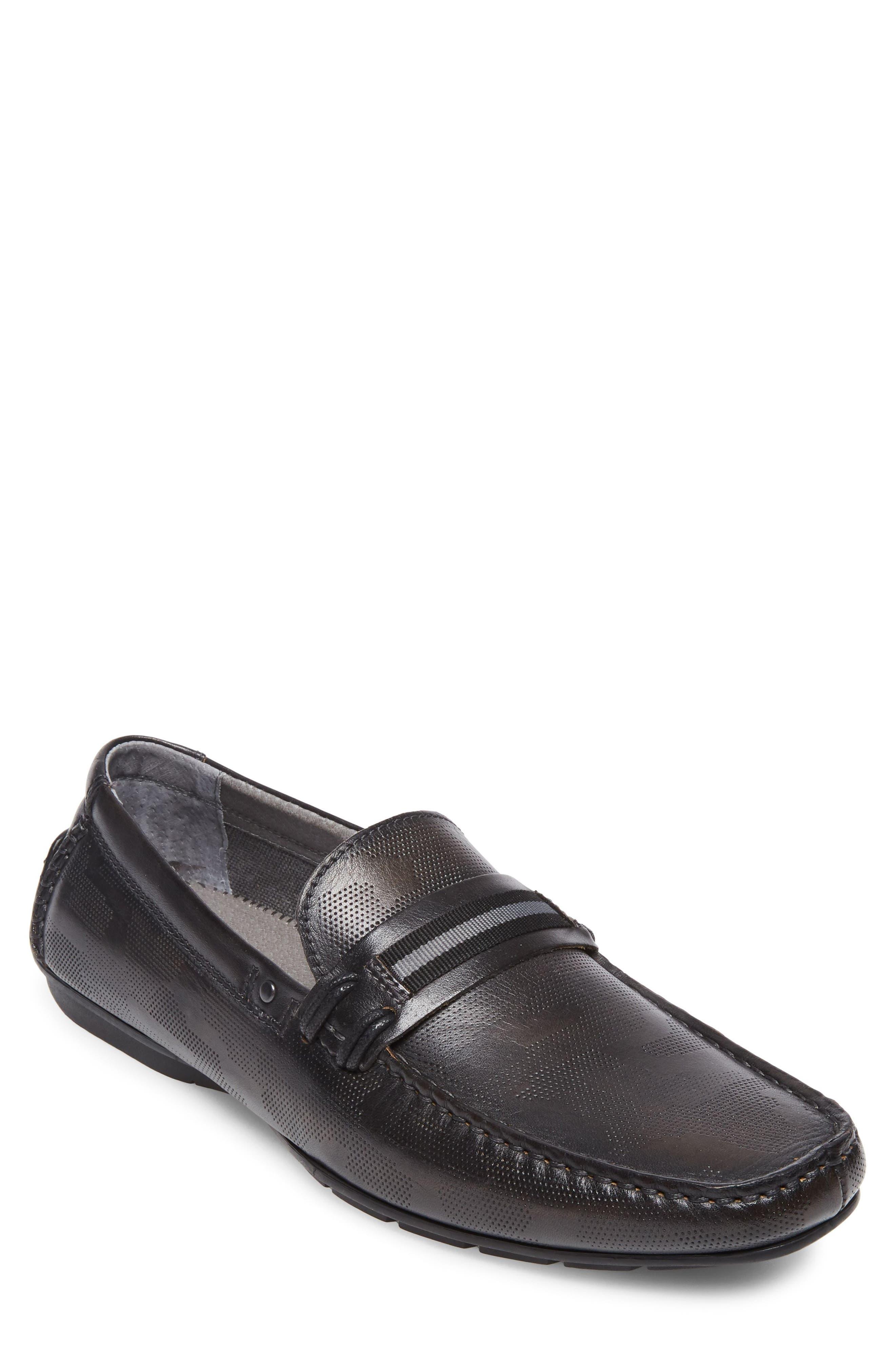Garvet Textured Driving Loafer,                         Main,                         color, 001