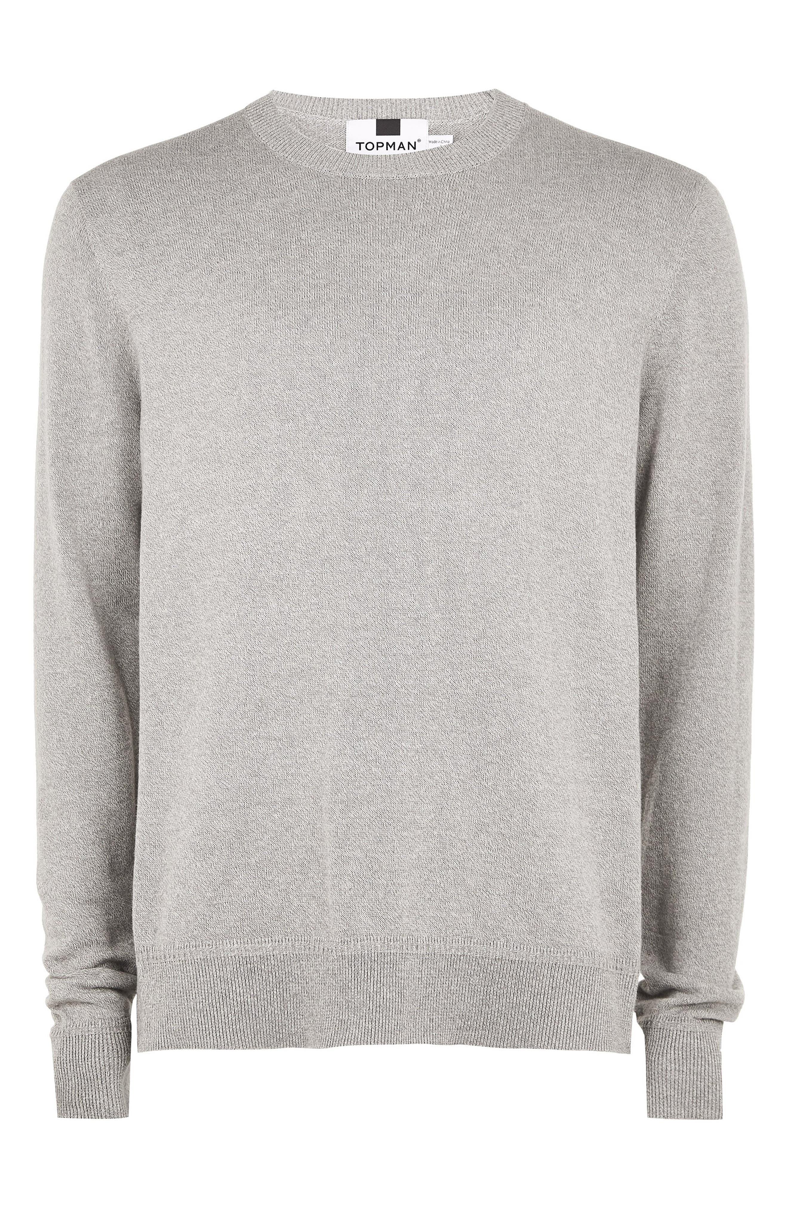 Marl Crewneck Sweater,                             Alternate thumbnail 4, color,                             CREAM