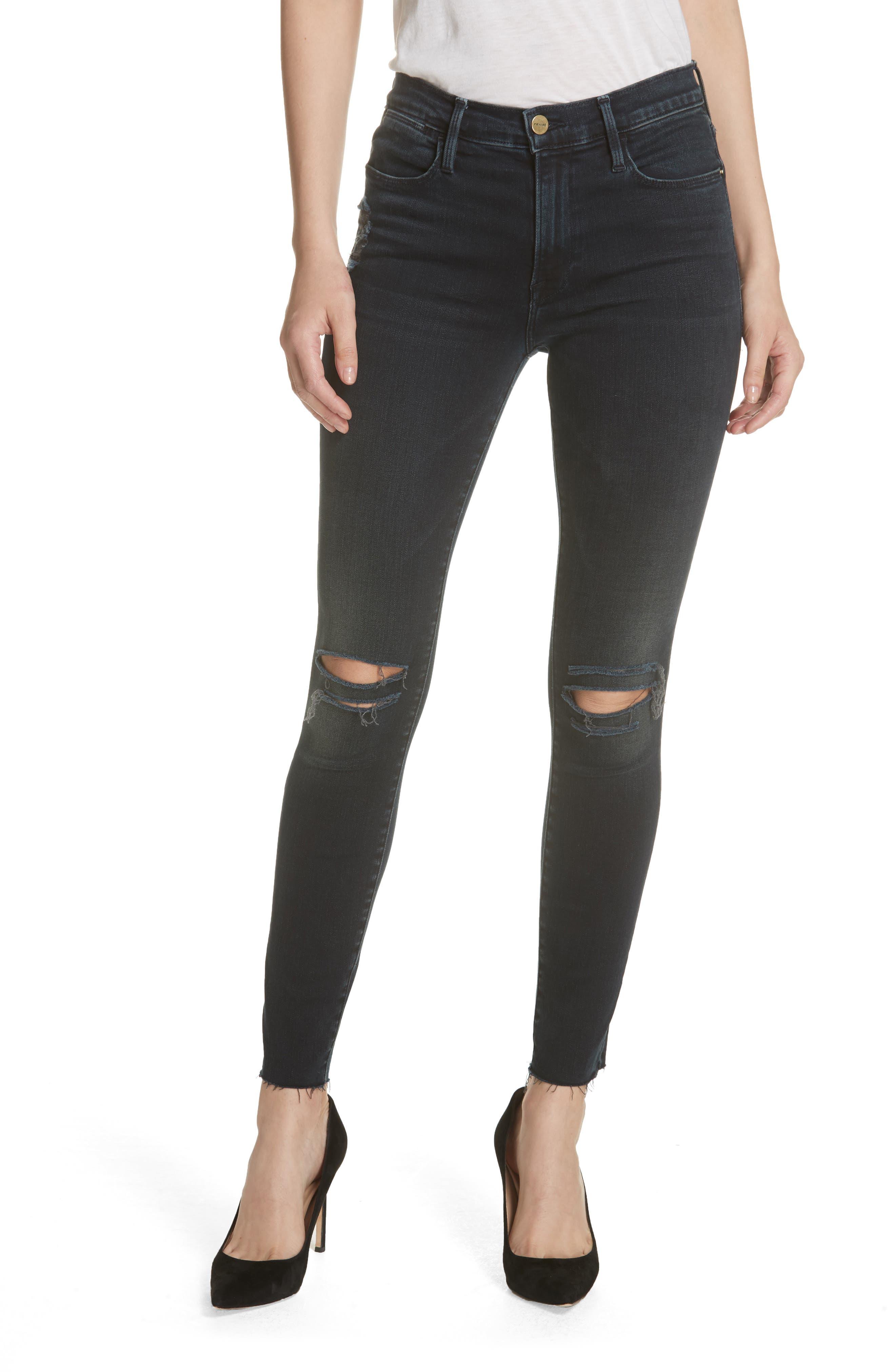 Le High Skinny Jeans,                             Main thumbnail 1, color,                             402