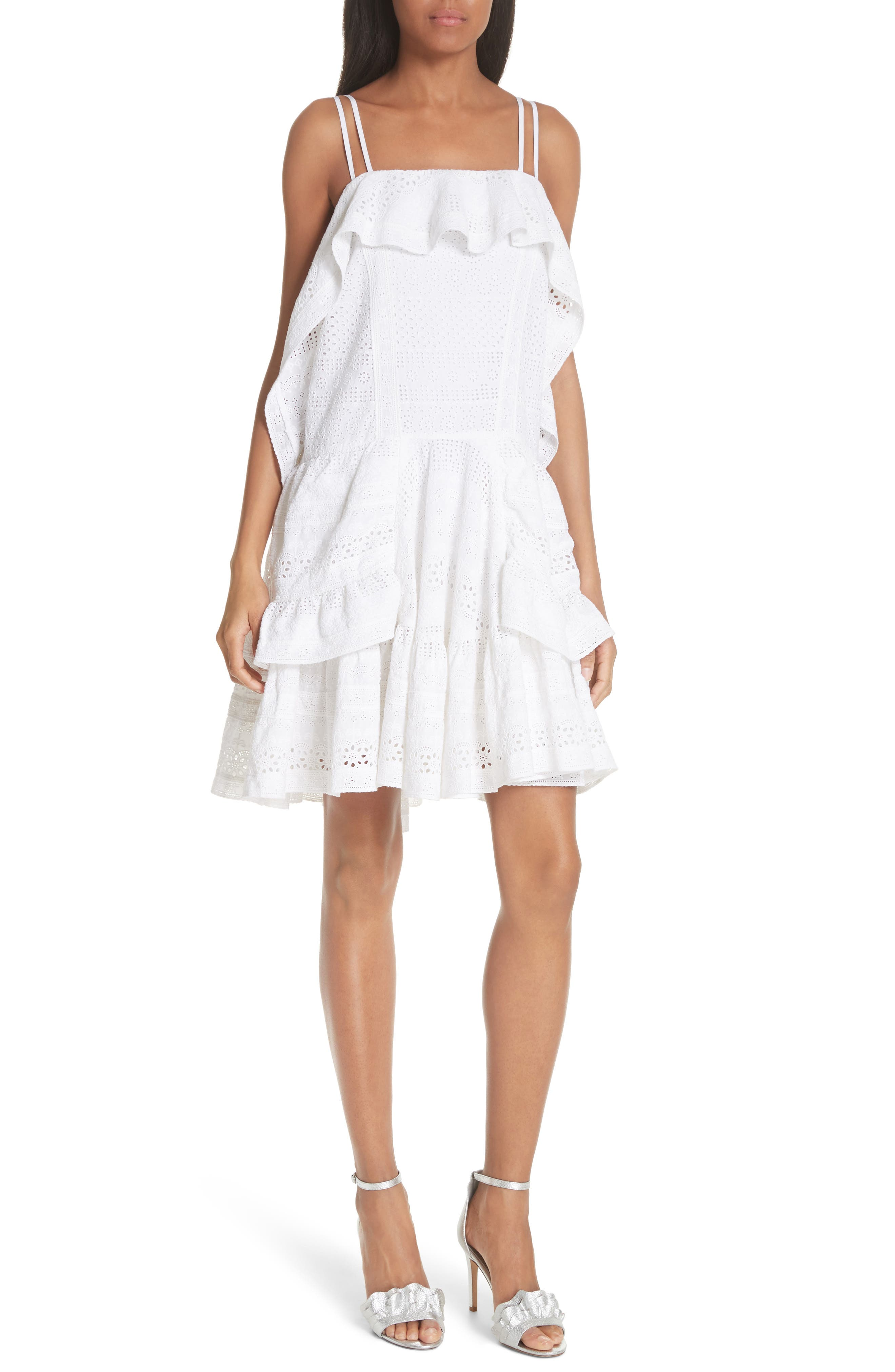Deconstructed Broderie Dress,                             Main thumbnail 1, color,                             100