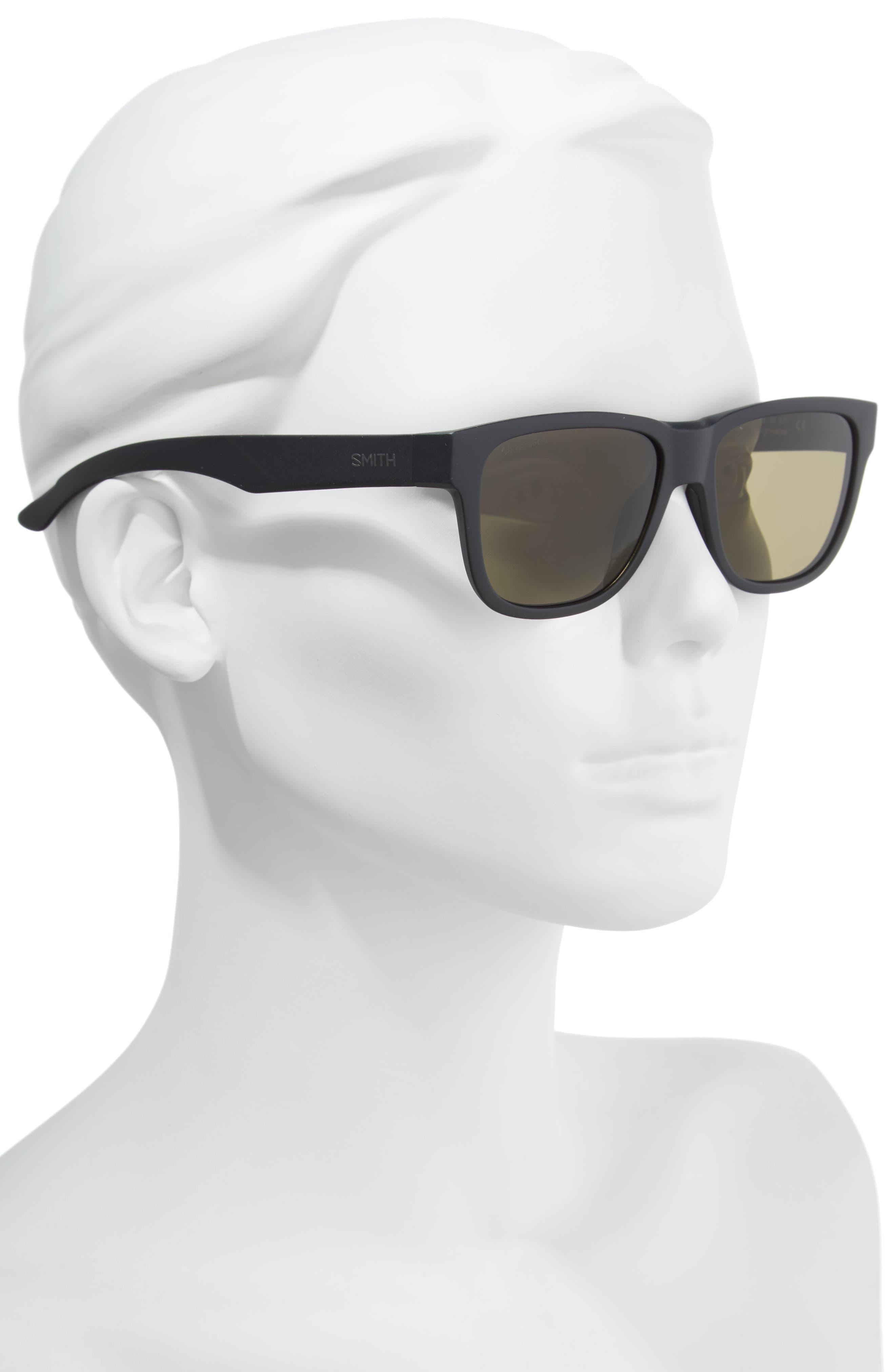 Lowdown Slim 2 53mm ChromaPop<sup>™</sup> Square Sunglasses,                             Alternate thumbnail 2, color,                             MATTE BLACK