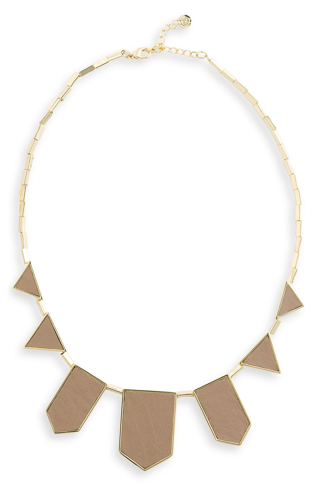 Leather Station Necklace,                             Main thumbnail 12, color,
