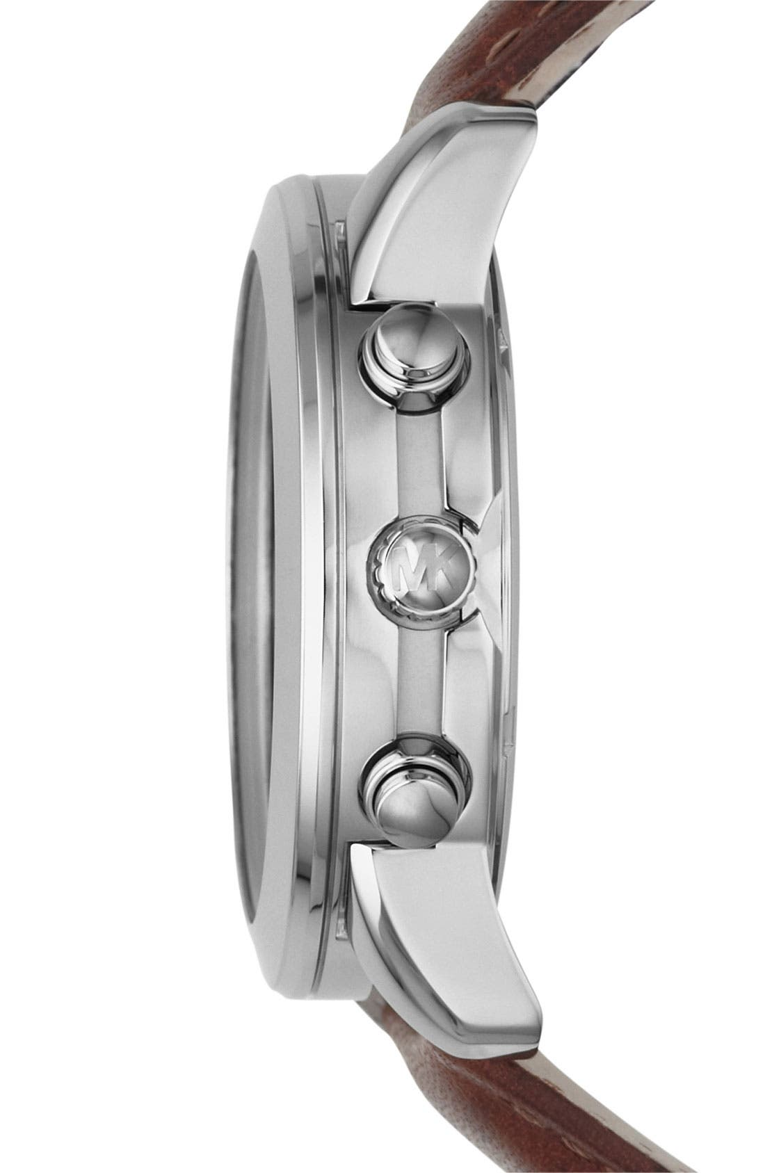 Michael Kors Chronograph Leather Strap Watch, 41mm,                             Alternate thumbnail 9, color,