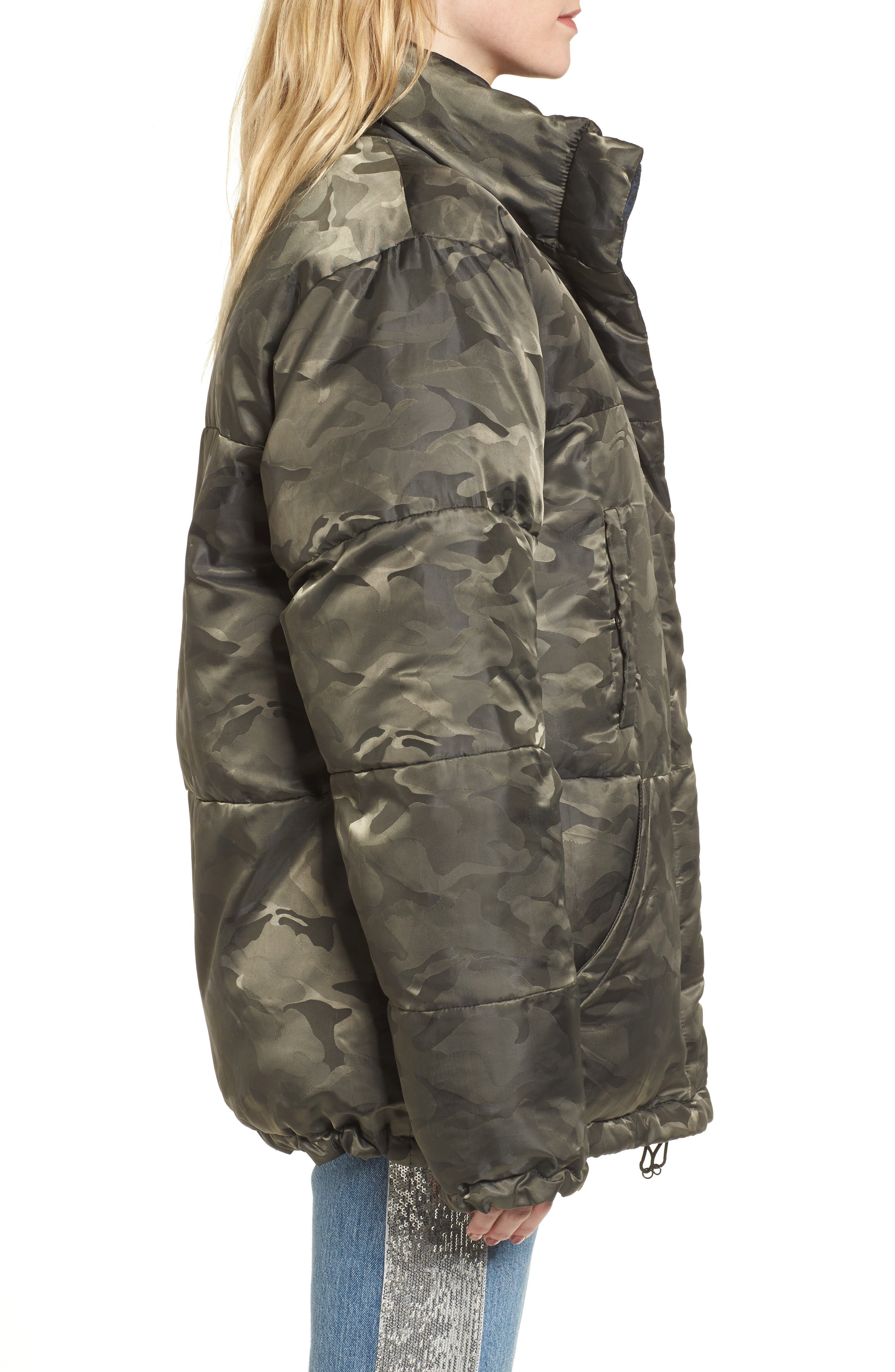 Reversible Puffer Jacket,                             Alternate thumbnail 3, color,                             300