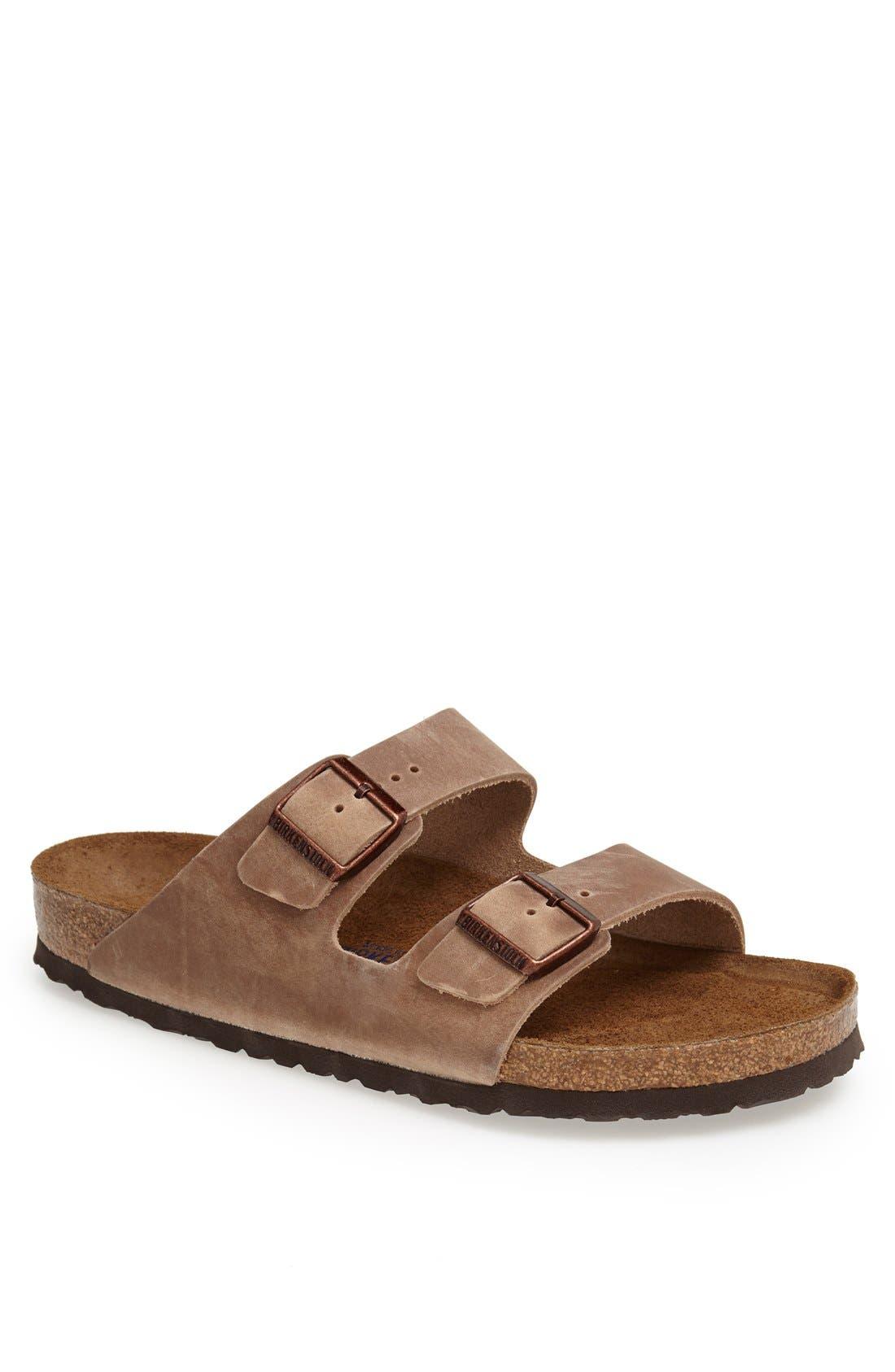 Birkenstock Arizona Soft Slide Sandal,7.5 - Brown