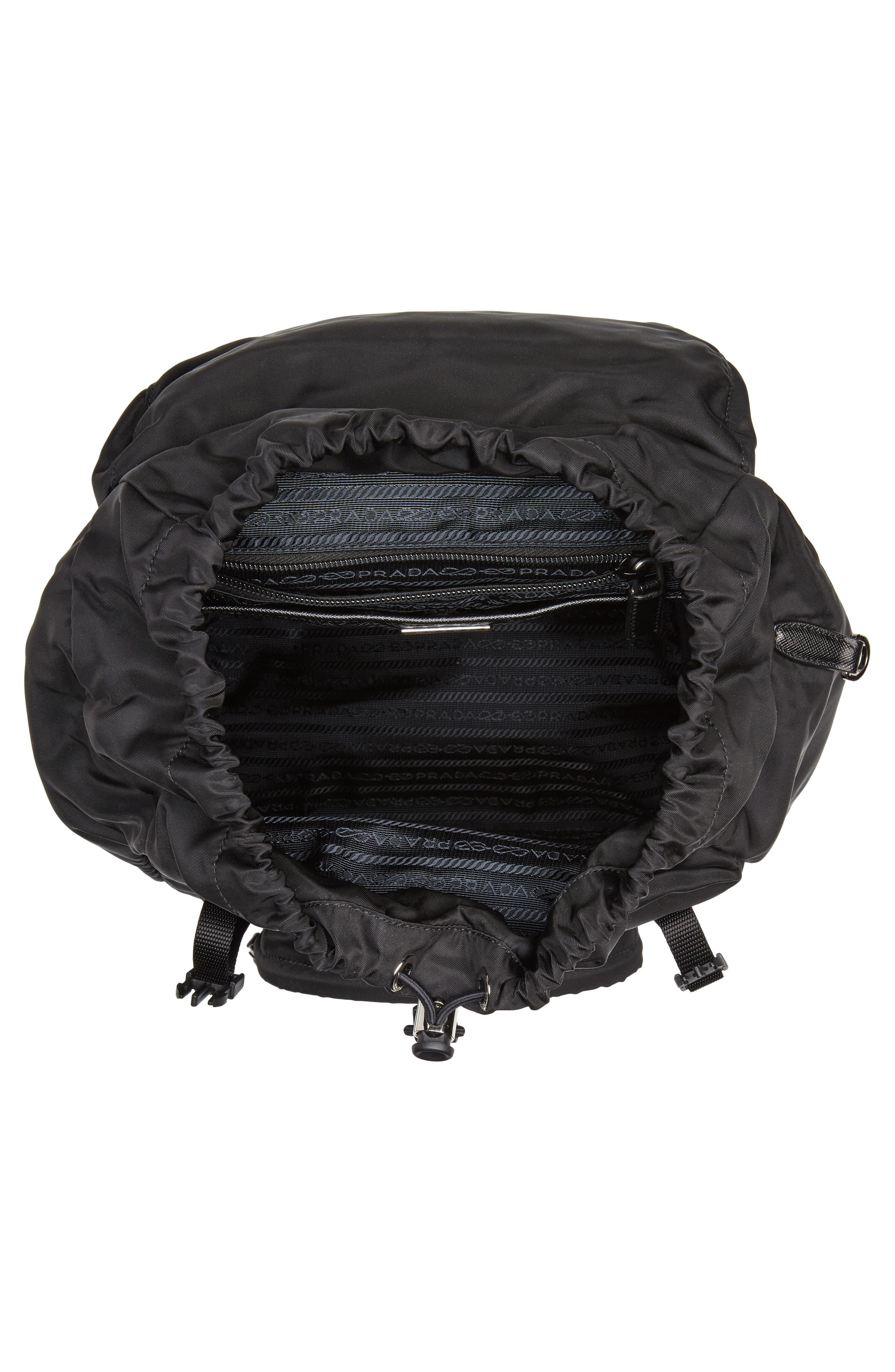 PRADA,                             Tessuto Lettering Unisex Nylon Backpack,                             Alternate thumbnail 4, color,                             001