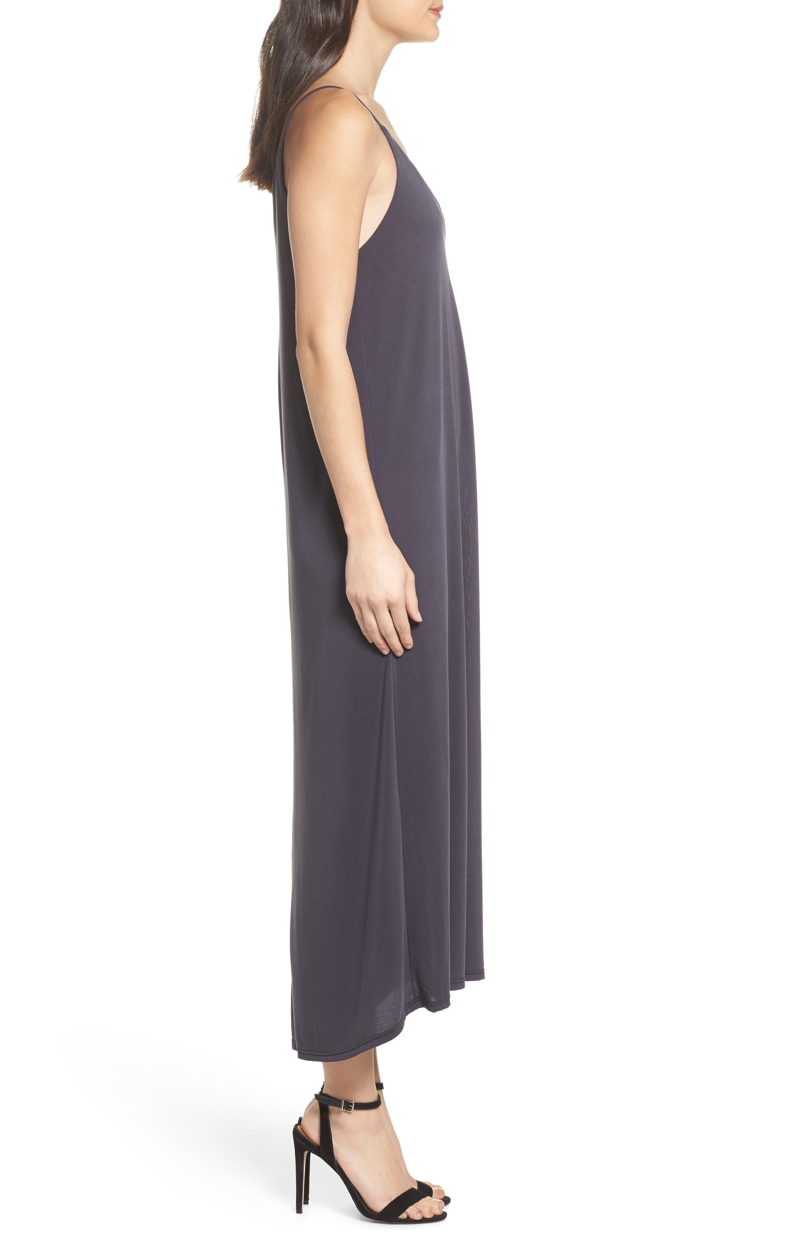 Knit Maxi Dress,                             Alternate thumbnail 3, color,                             002