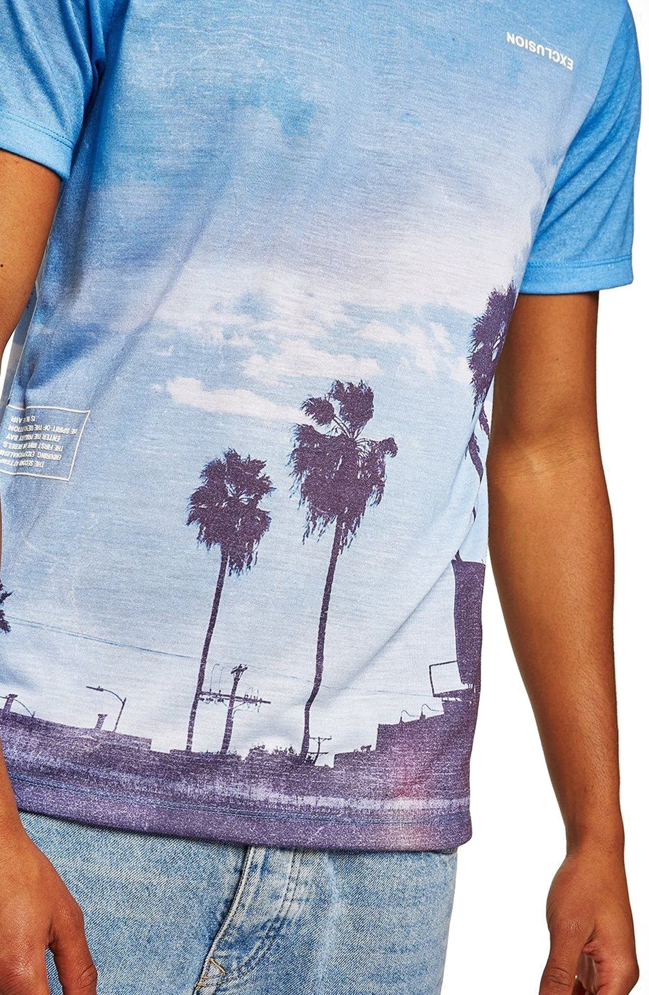 Classic Fit Seclusion Graphic T-Shirt,                             Alternate thumbnail 3, color,                             BLUE MULTI