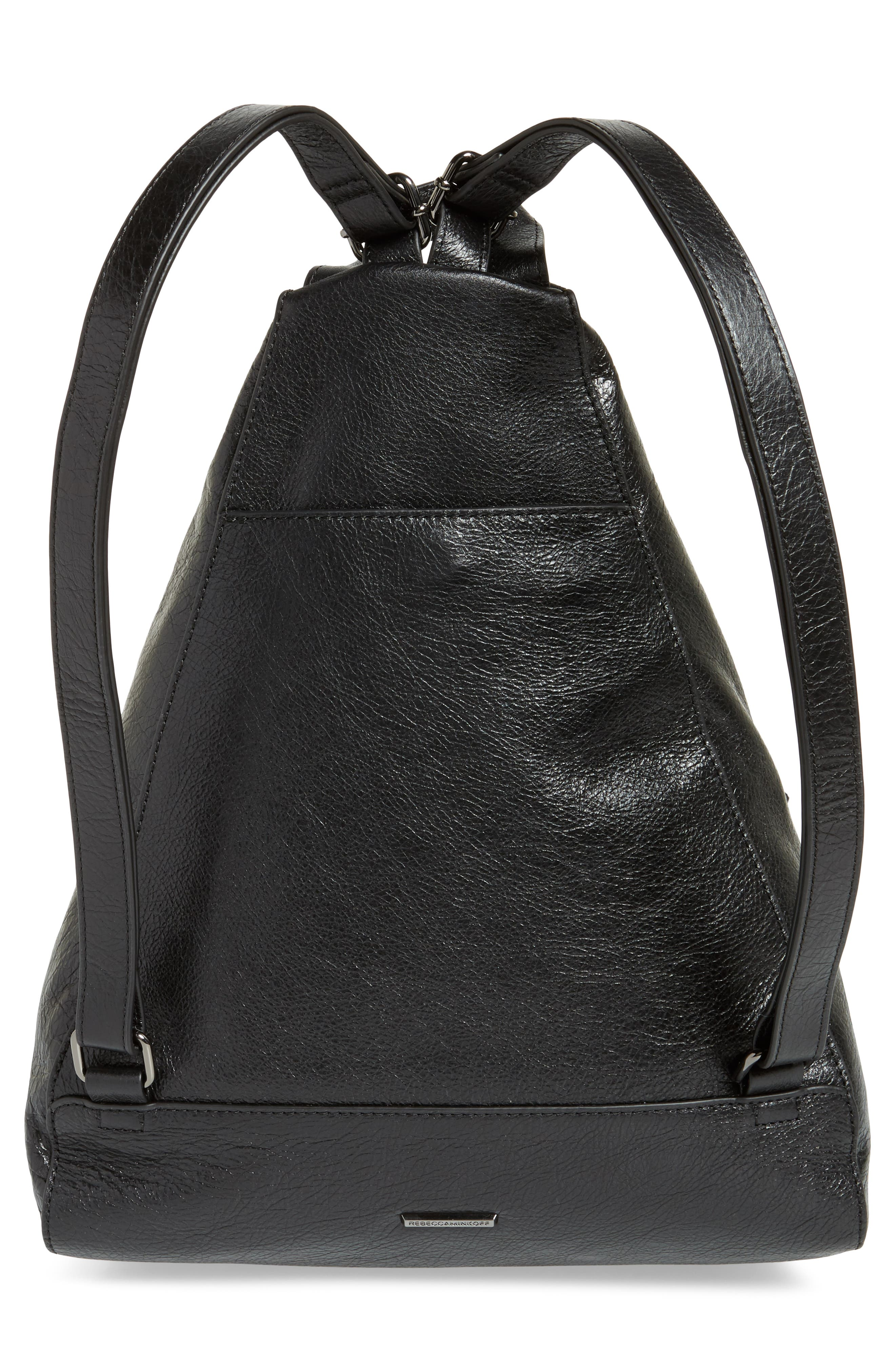 Jamie Nubuck Leather Backpack,                             Alternate thumbnail 3, color,                             001