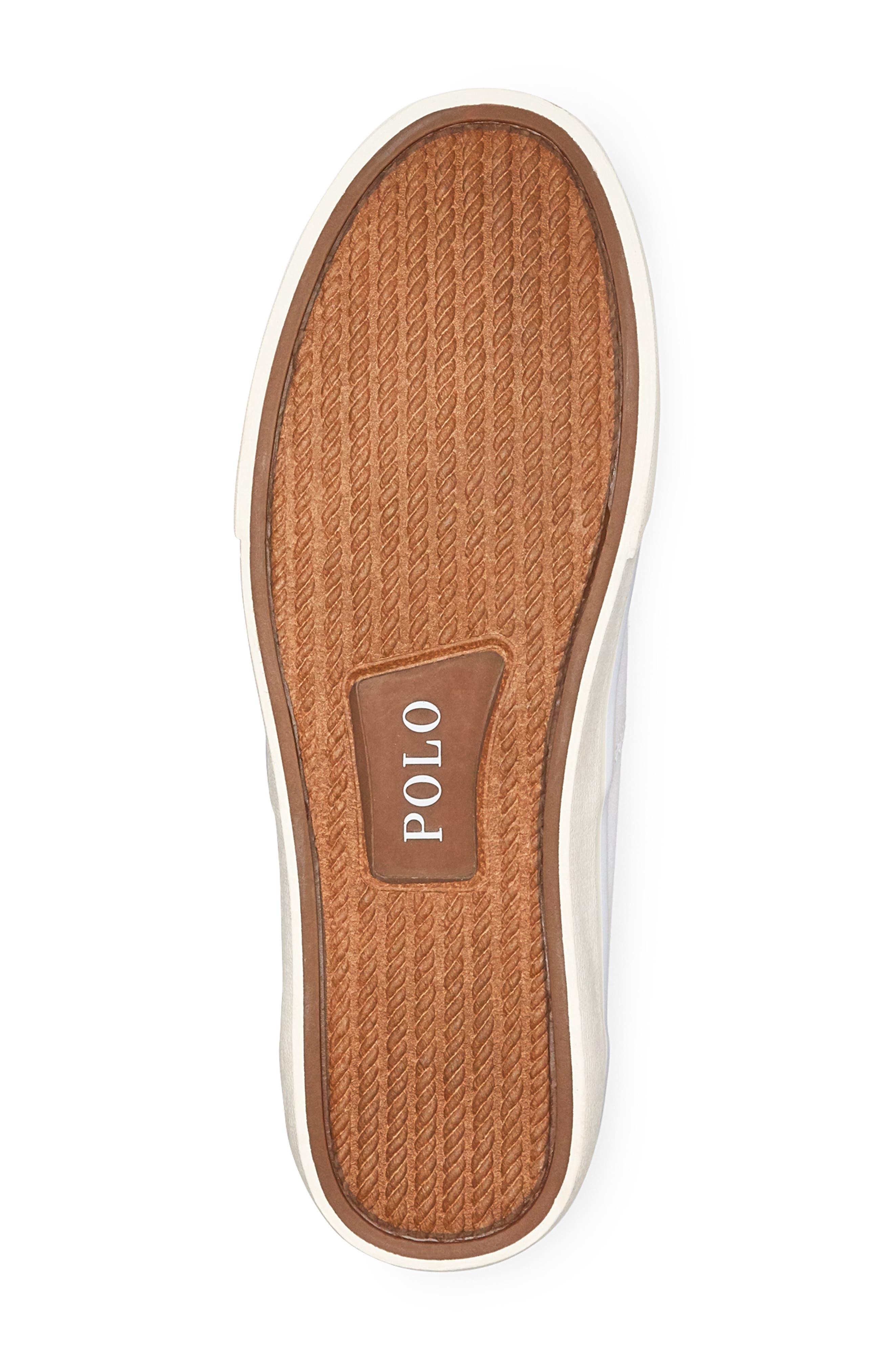 POLO RALPH LAUREN,                             Thorton Low Top Sneaker,                             Alternate thumbnail 4, color,                             WHITE CANVAS