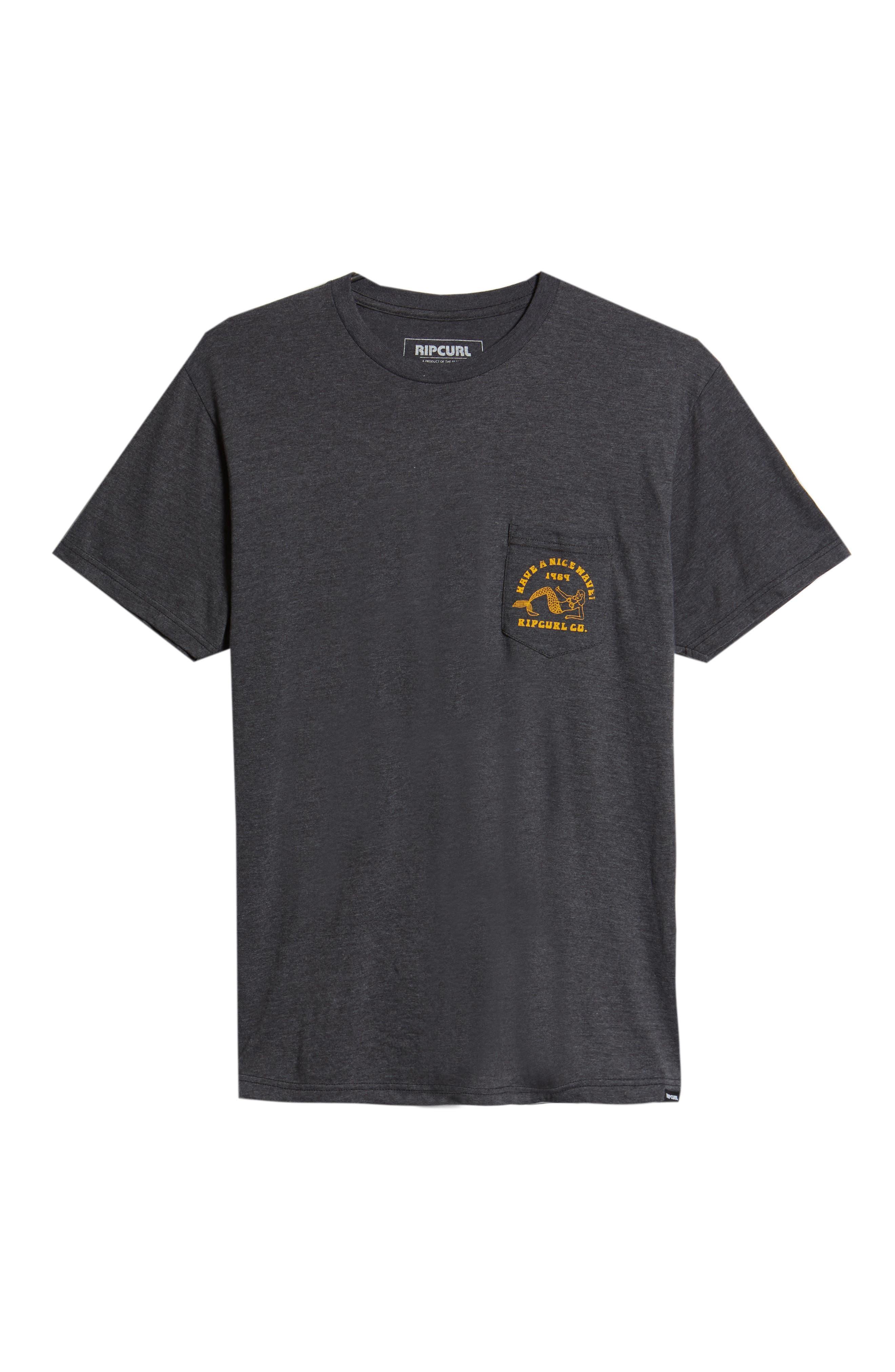 Merman Heathered Pocket T-Shirt,                             Alternate thumbnail 6, color,                             020