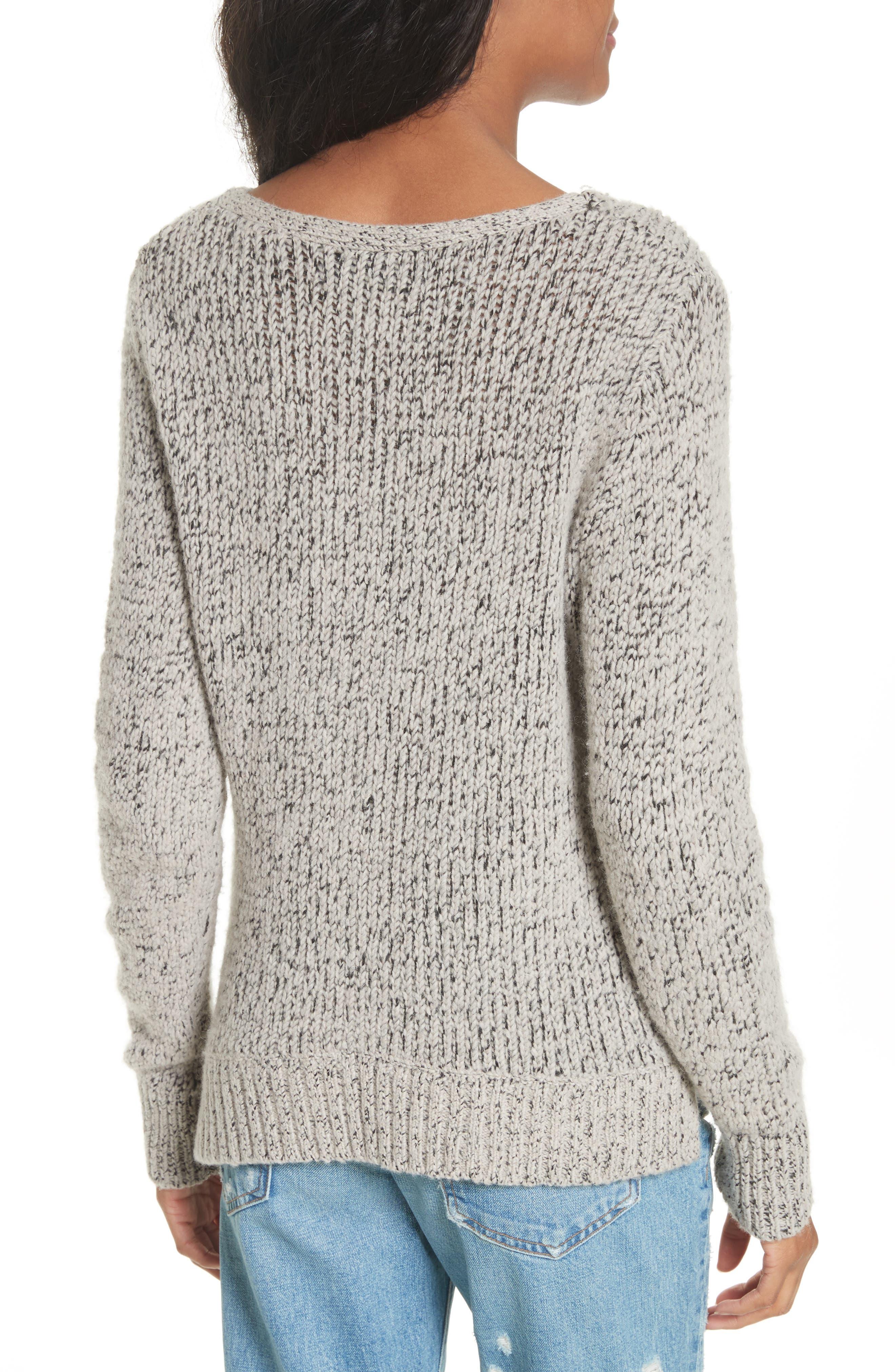 Asymmetrical Cross Front Sweater,                             Alternate thumbnail 2, color,
