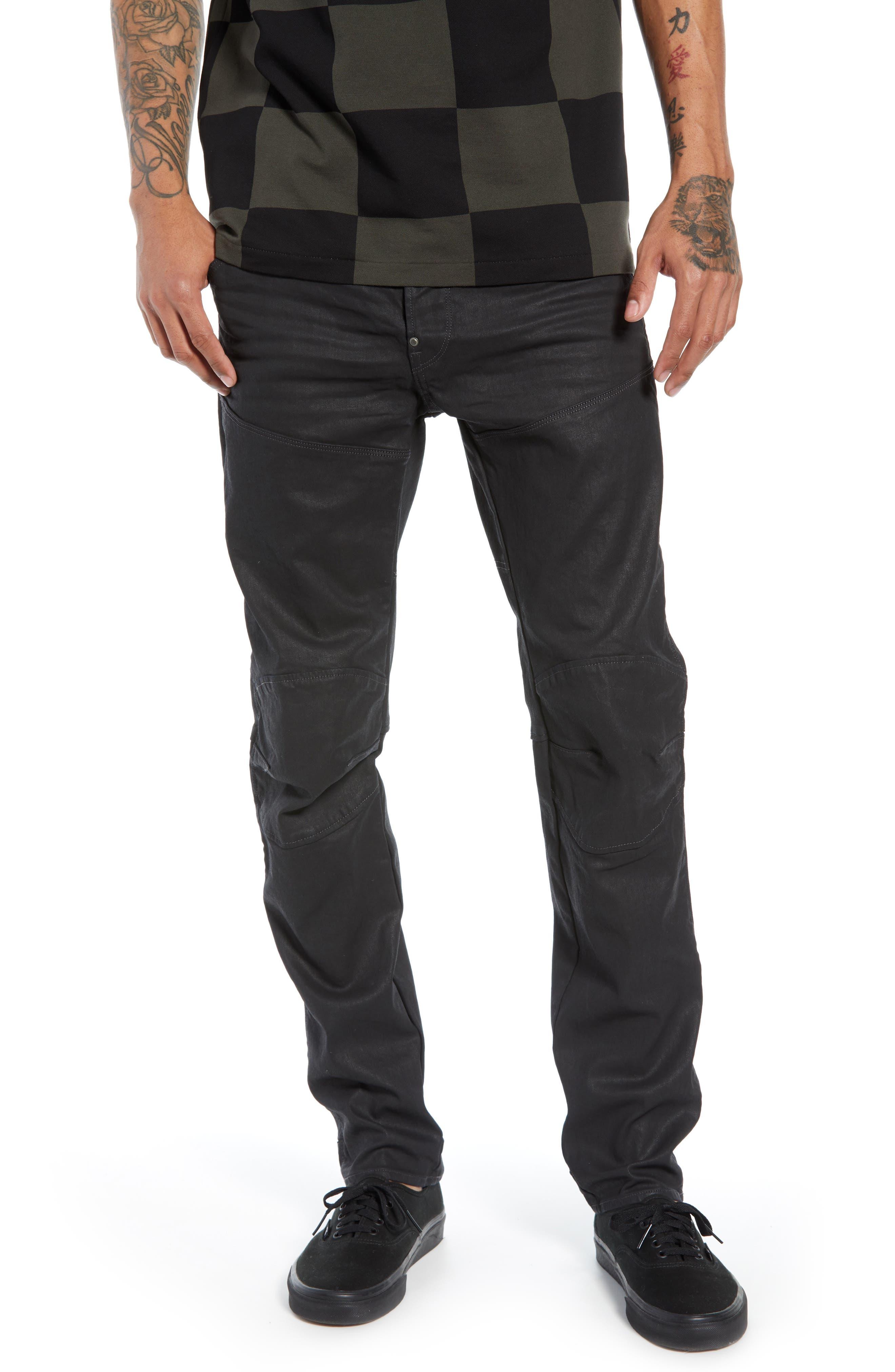 3D Coated Slim Jeans,                             Main thumbnail 1, color,                             3D DARK AGED