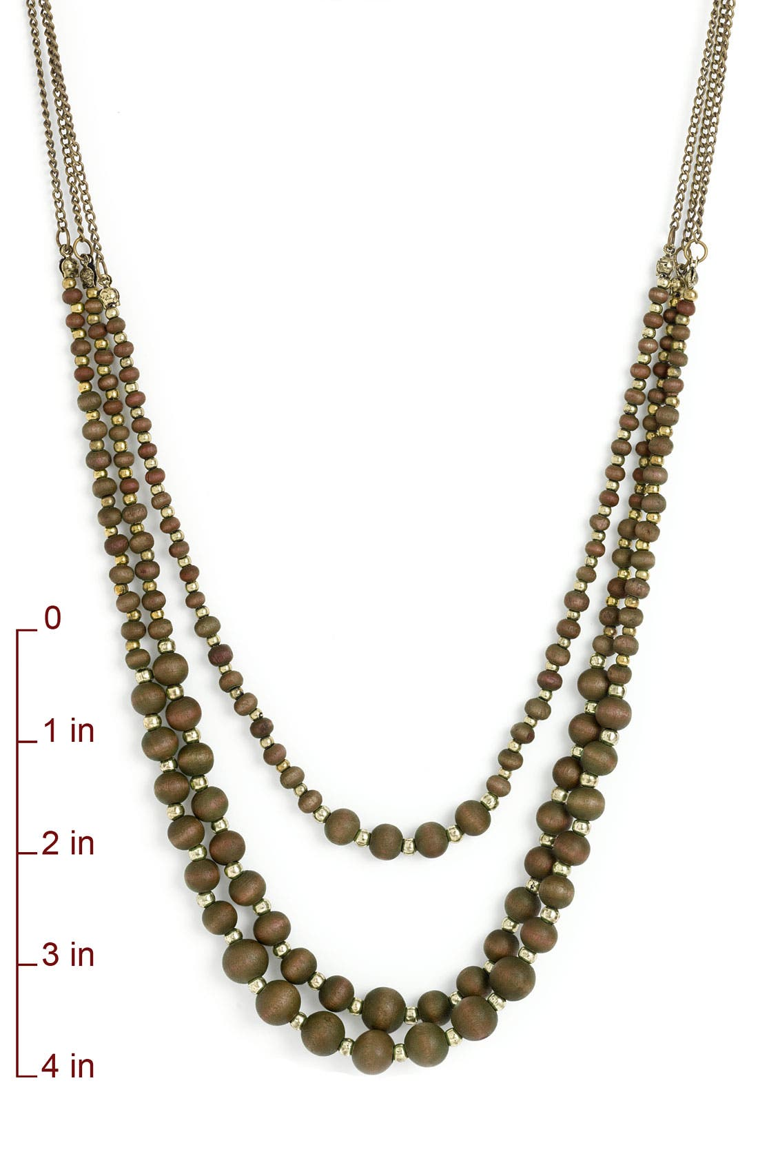 Wood Bead Layered Necklace,                             Alternate thumbnail 2, color,                             201