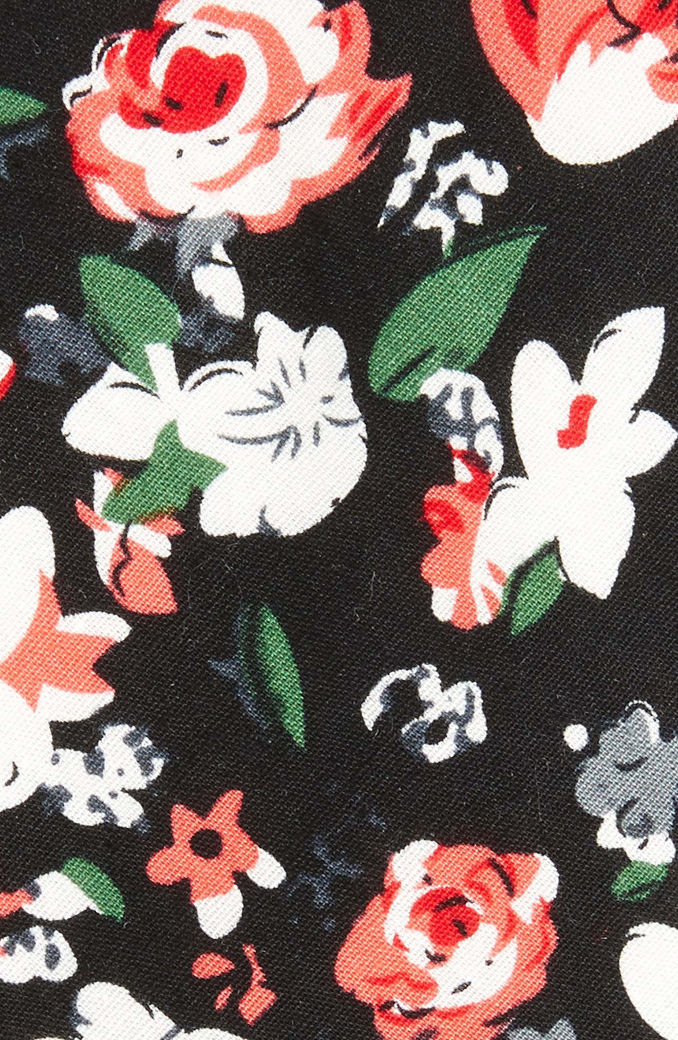 Oceana Floral Cotton Tie,                             Alternate thumbnail 2, color,