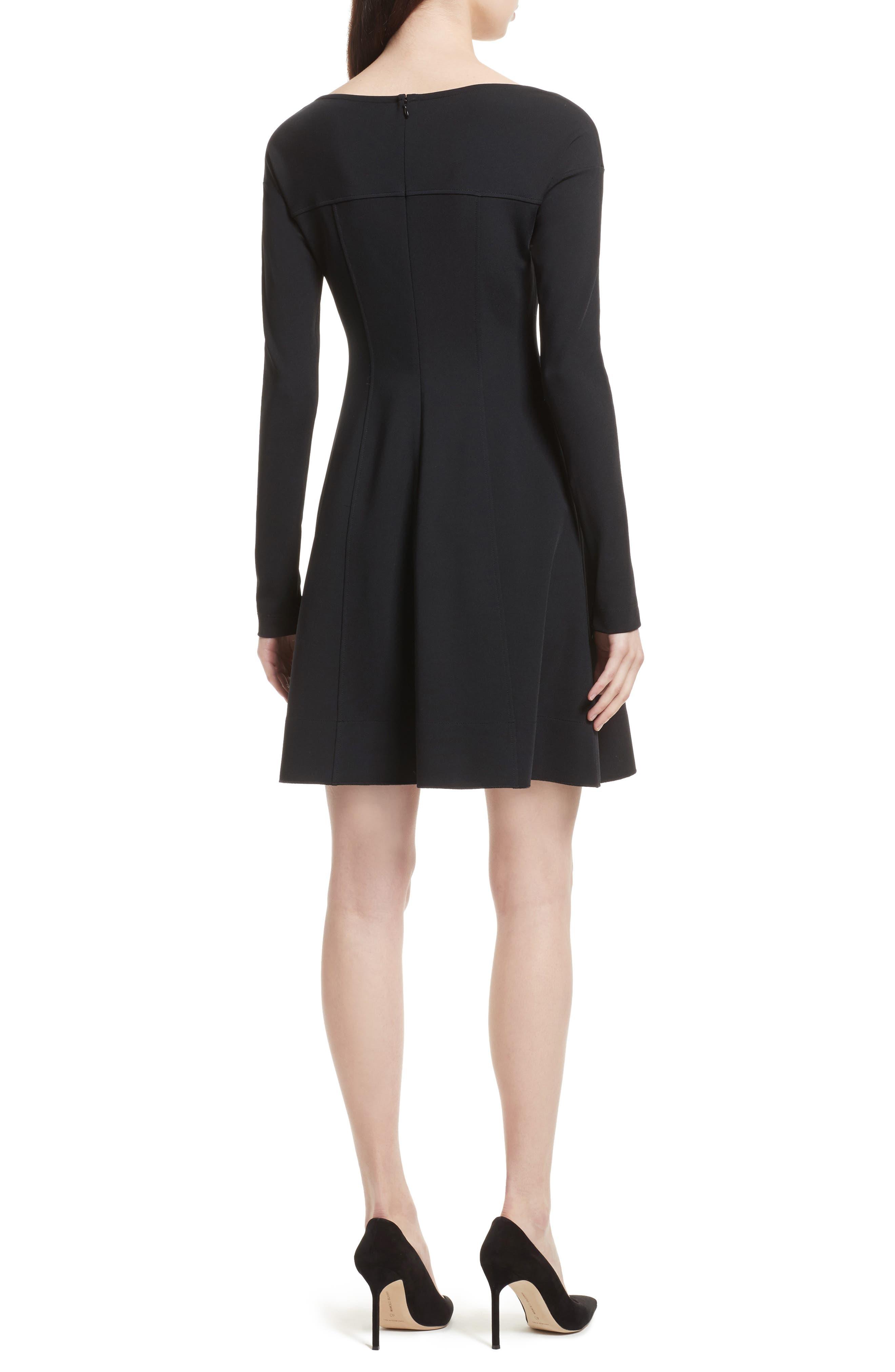 Valentina Scuba Knit A-Line Dress,                             Alternate thumbnail 3, color,