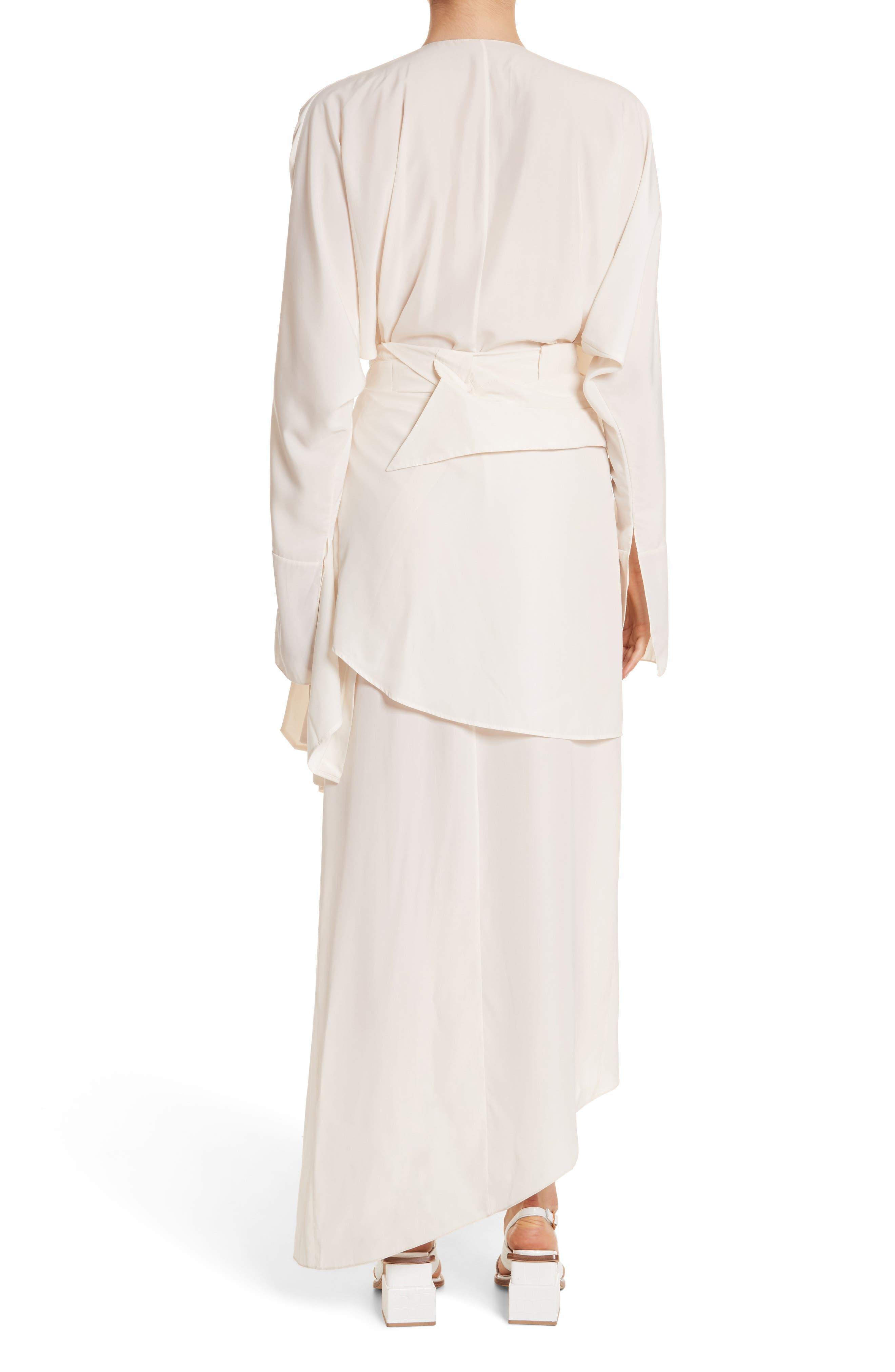 Asymmetrical Draped Dress,                             Alternate thumbnail 2, color,                             900