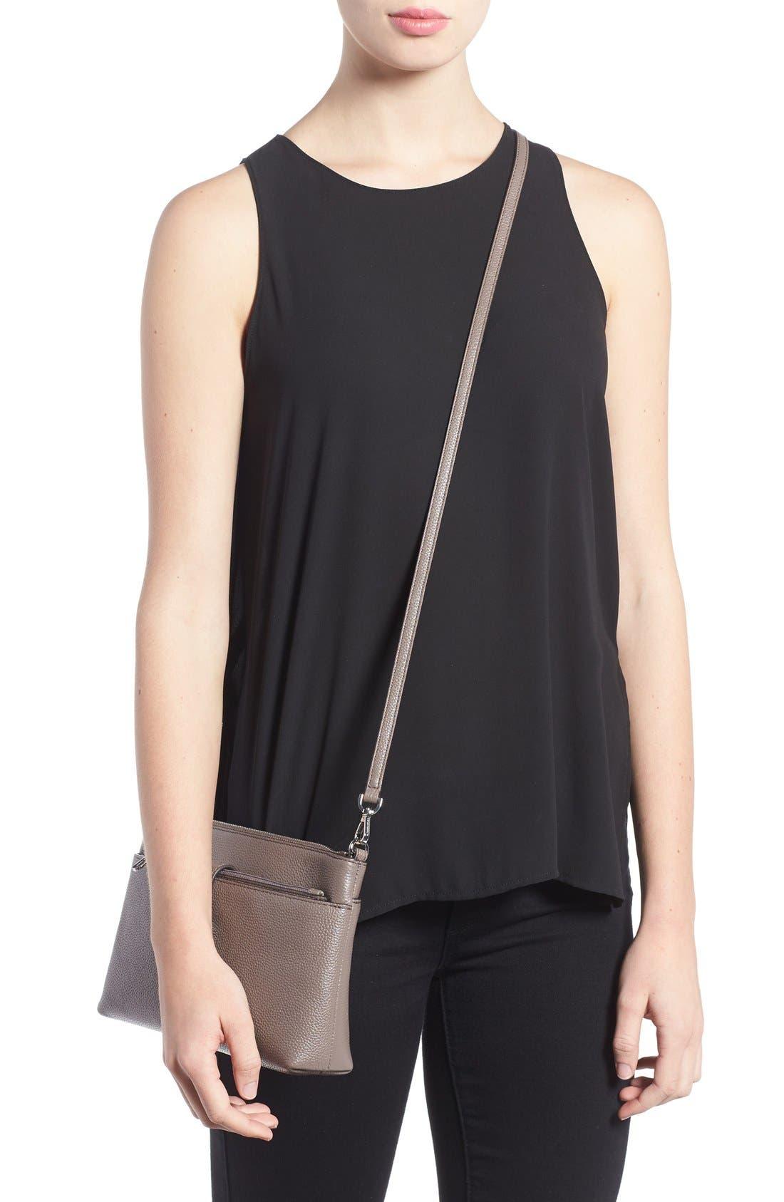 Large Mercer Leather Crossbody Bag,                             Alternate thumbnail 4, color,                             513