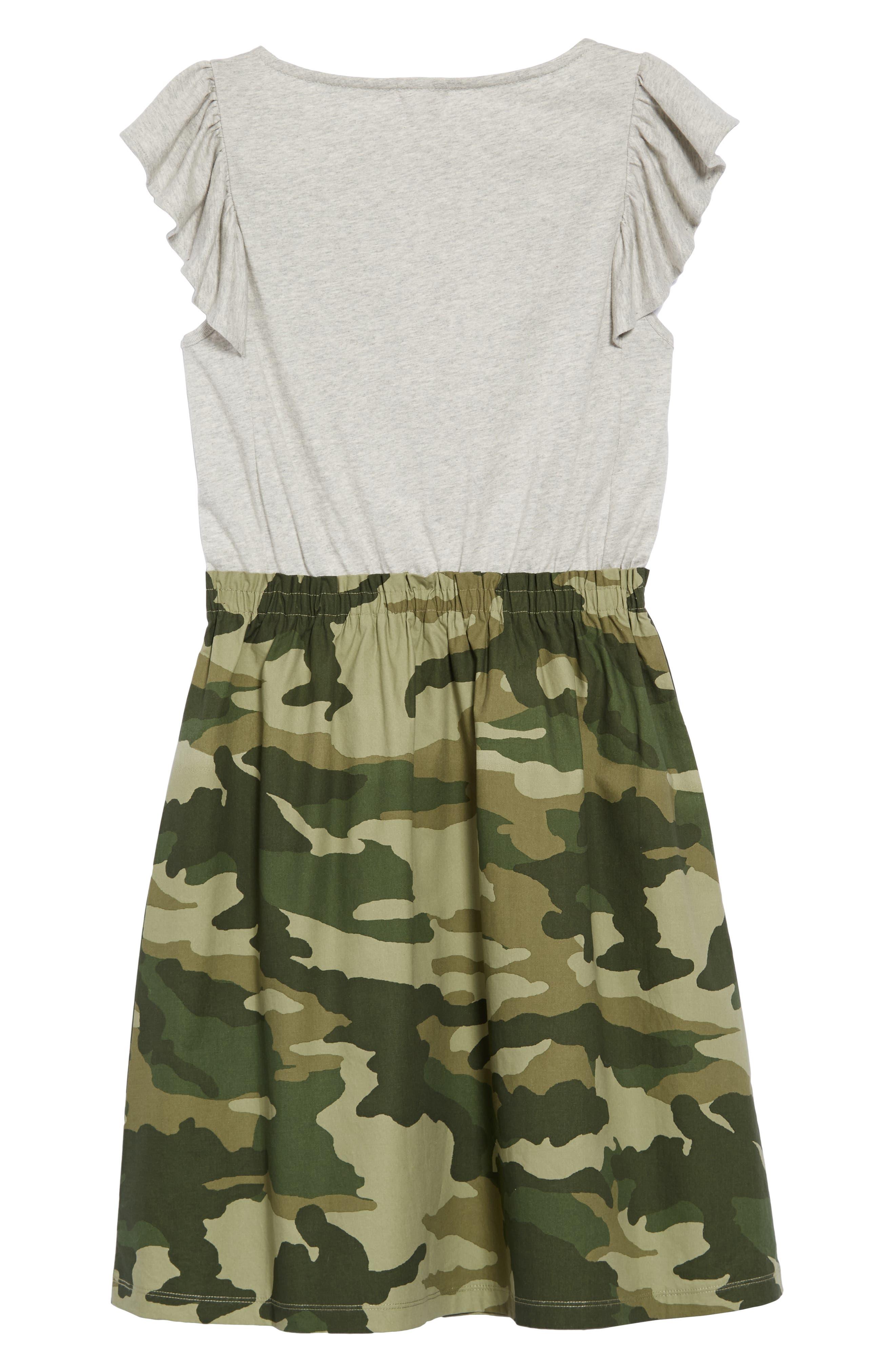 Mixed Media Dress,                             Alternate thumbnail 2, color,                             HTHR DUSK