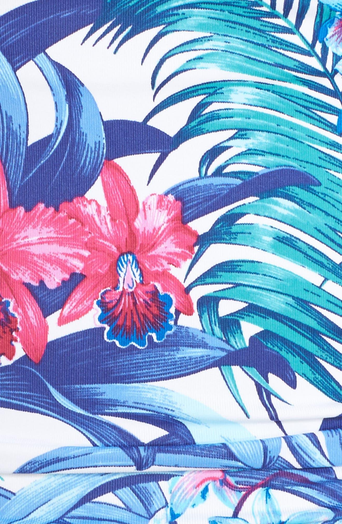 Majorelle Bandeau One-Piece Swimsuit,                             Alternate thumbnail 5, color,                             100