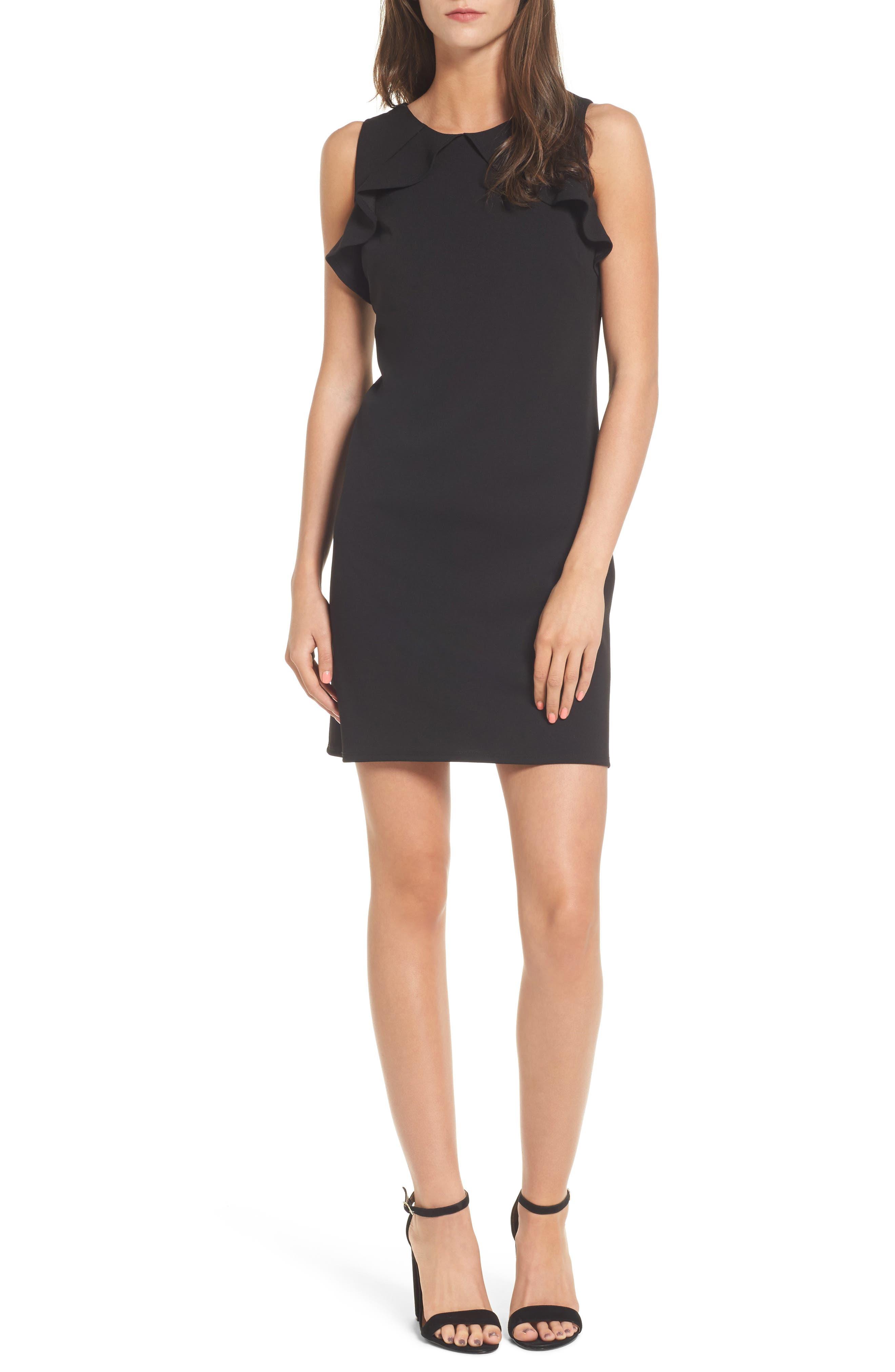 Ruffle Sleeveless Dress,                         Main,                         color, 001