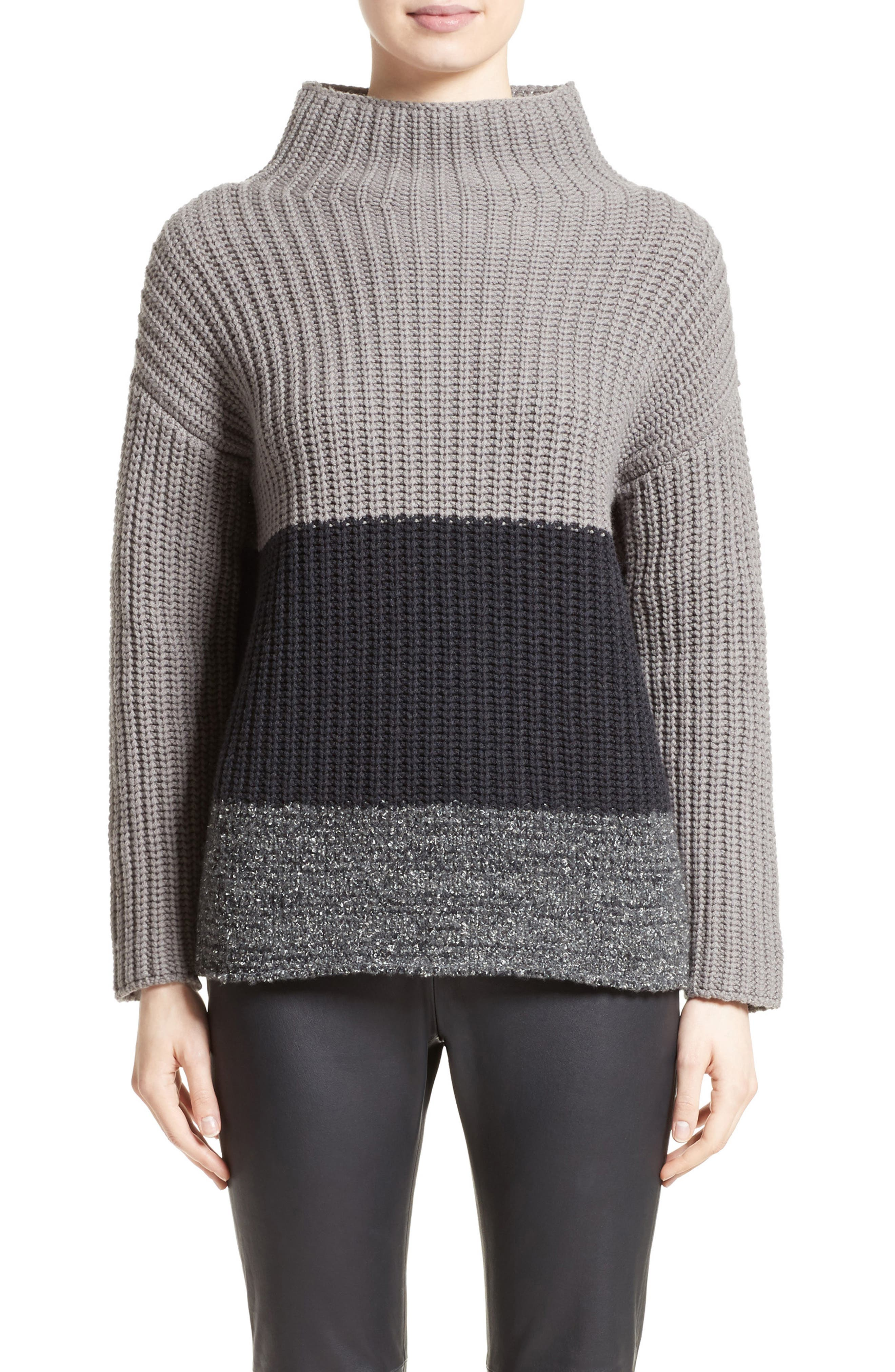 Ribbed Colorblock Sweater,                         Main,                         color, 021