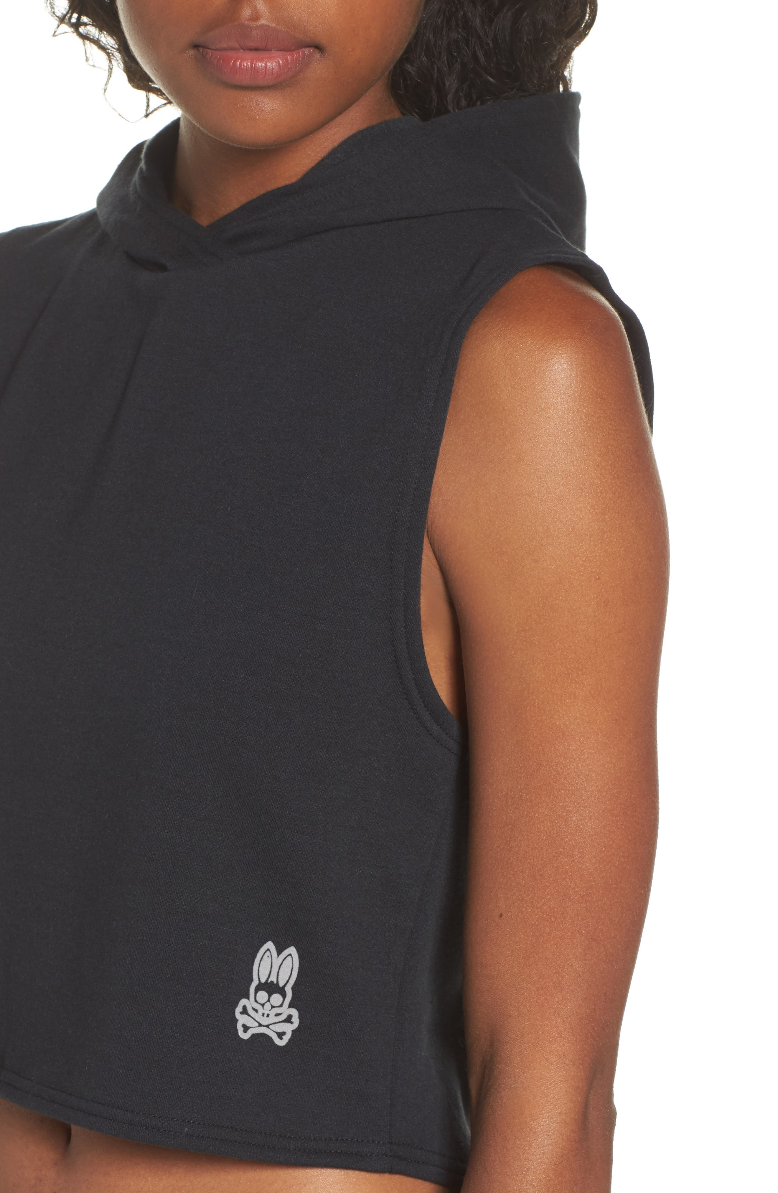 Muscle Sleeveless Hoodie,                             Alternate thumbnail 4, color,                             001