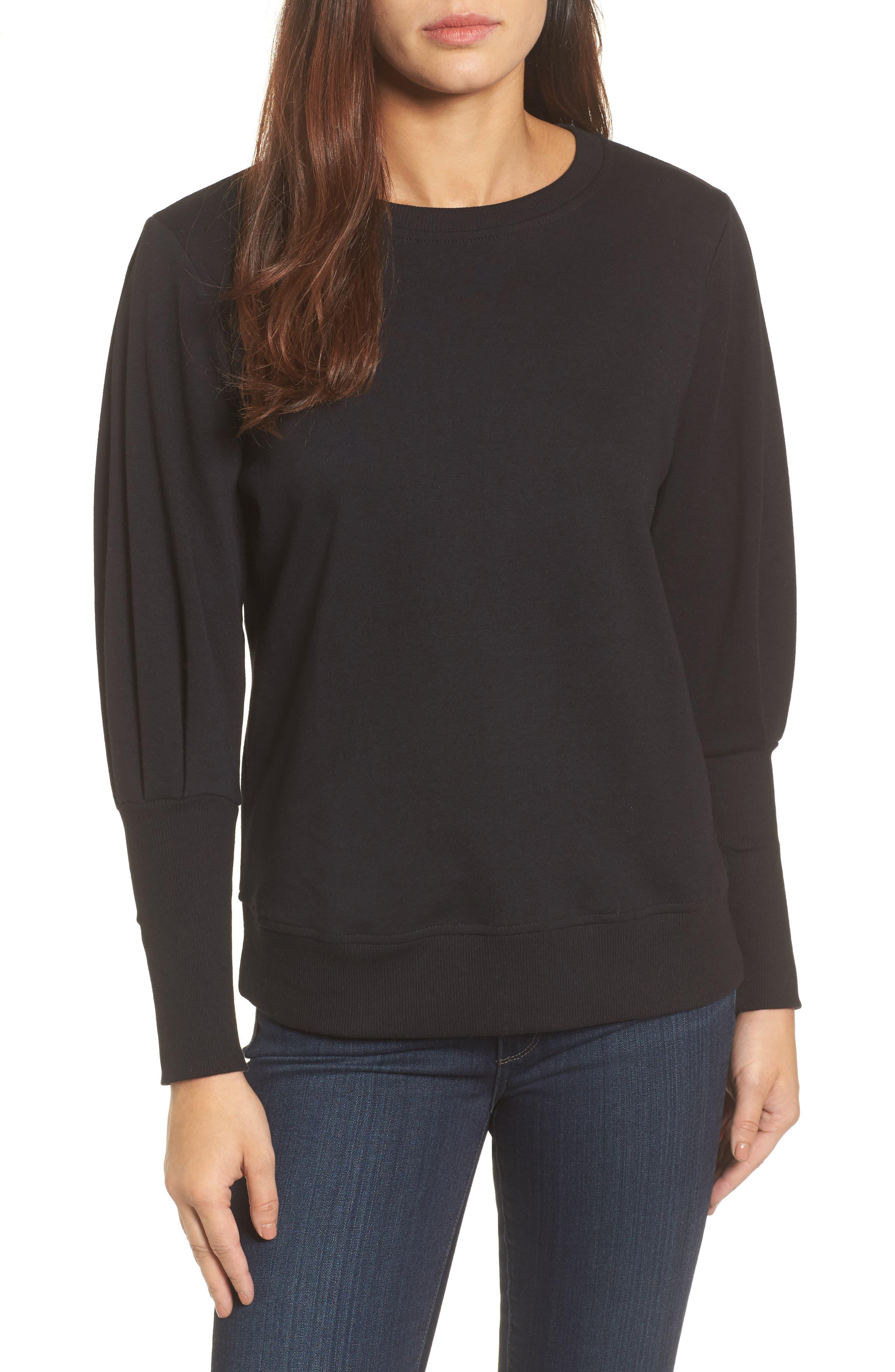 Blouson Sleeve Sweatshirt,                             Main thumbnail 1, color,                             001
