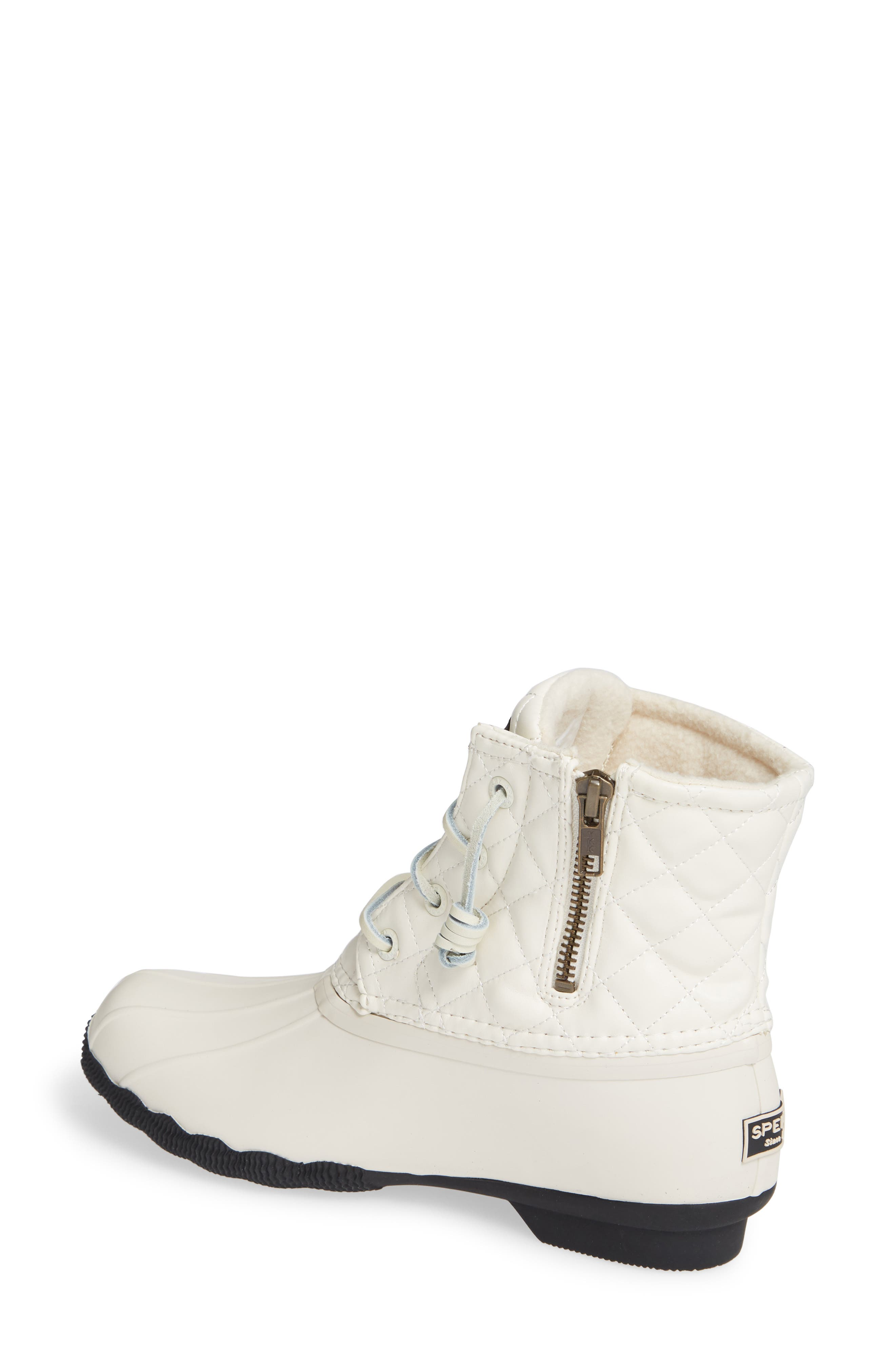 Quilted Luxe Saltwater Waterproof Bootie,                             Alternate thumbnail 2, color,                             IVORY