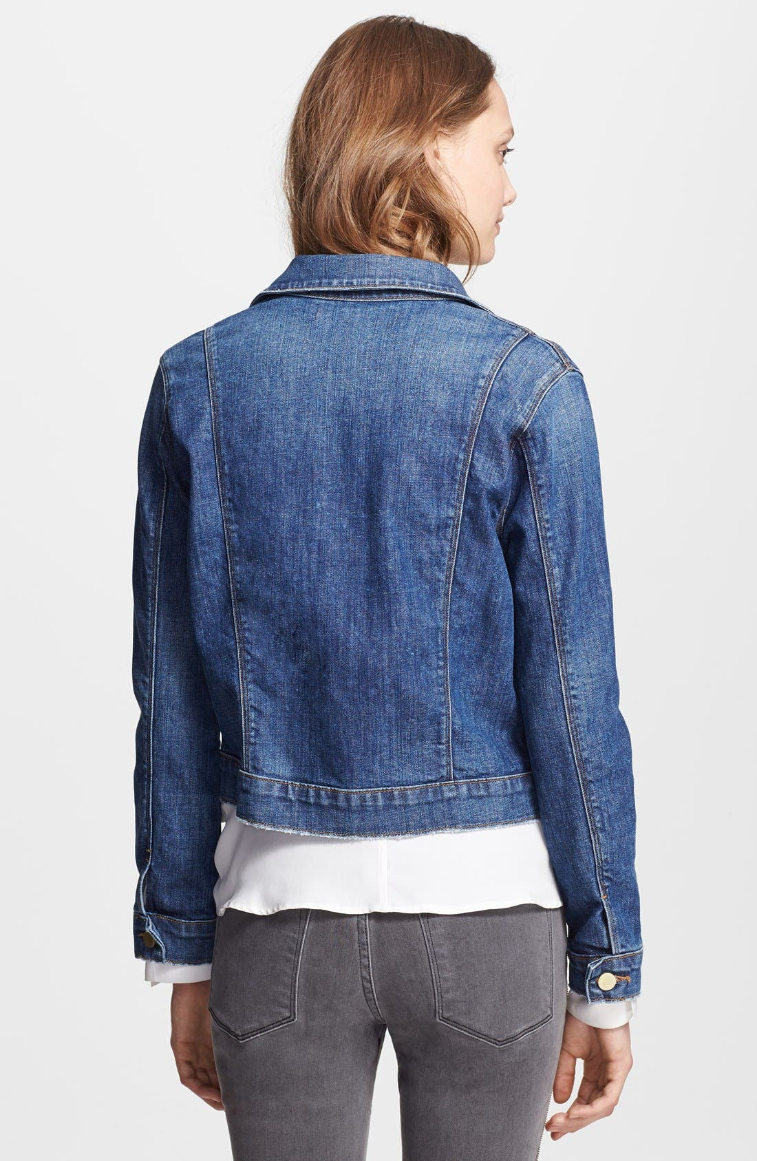 Denim 'Le Military' Denim Jacket,                             Alternate thumbnail 3, color,                             459