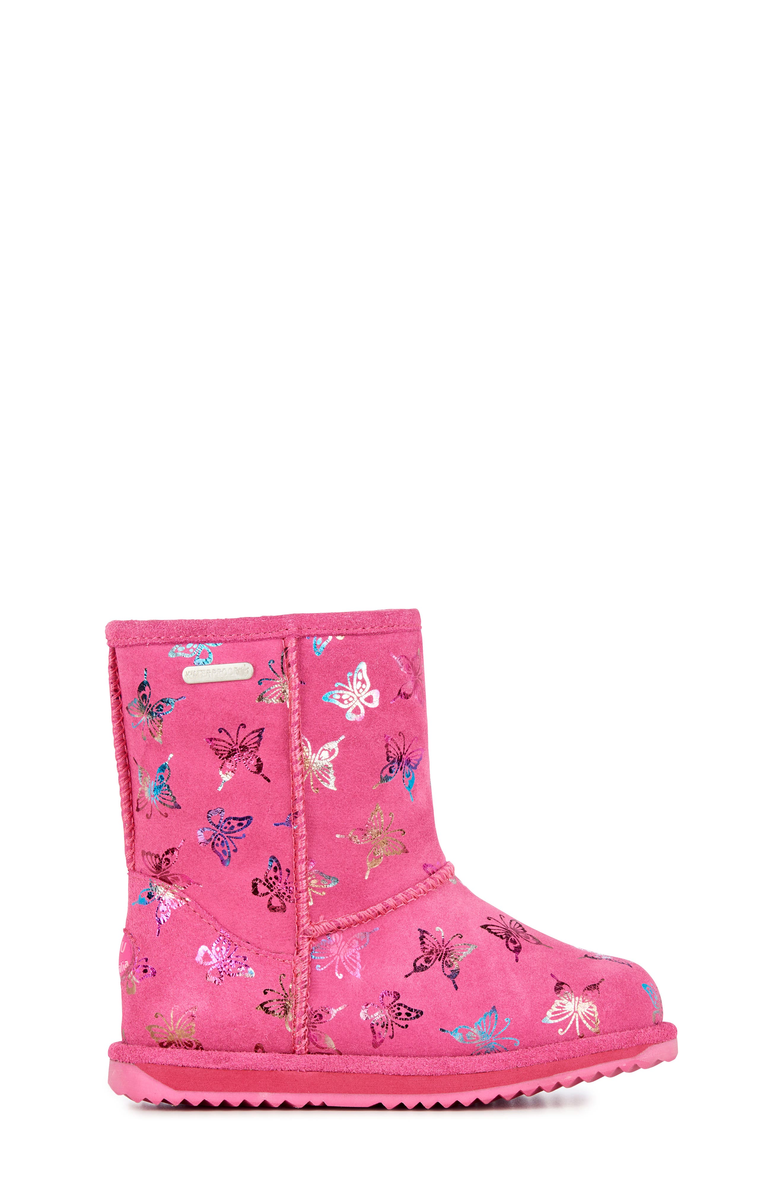 Animal Print Boots,                             Alternate thumbnail 3, color,                             HOT PINK