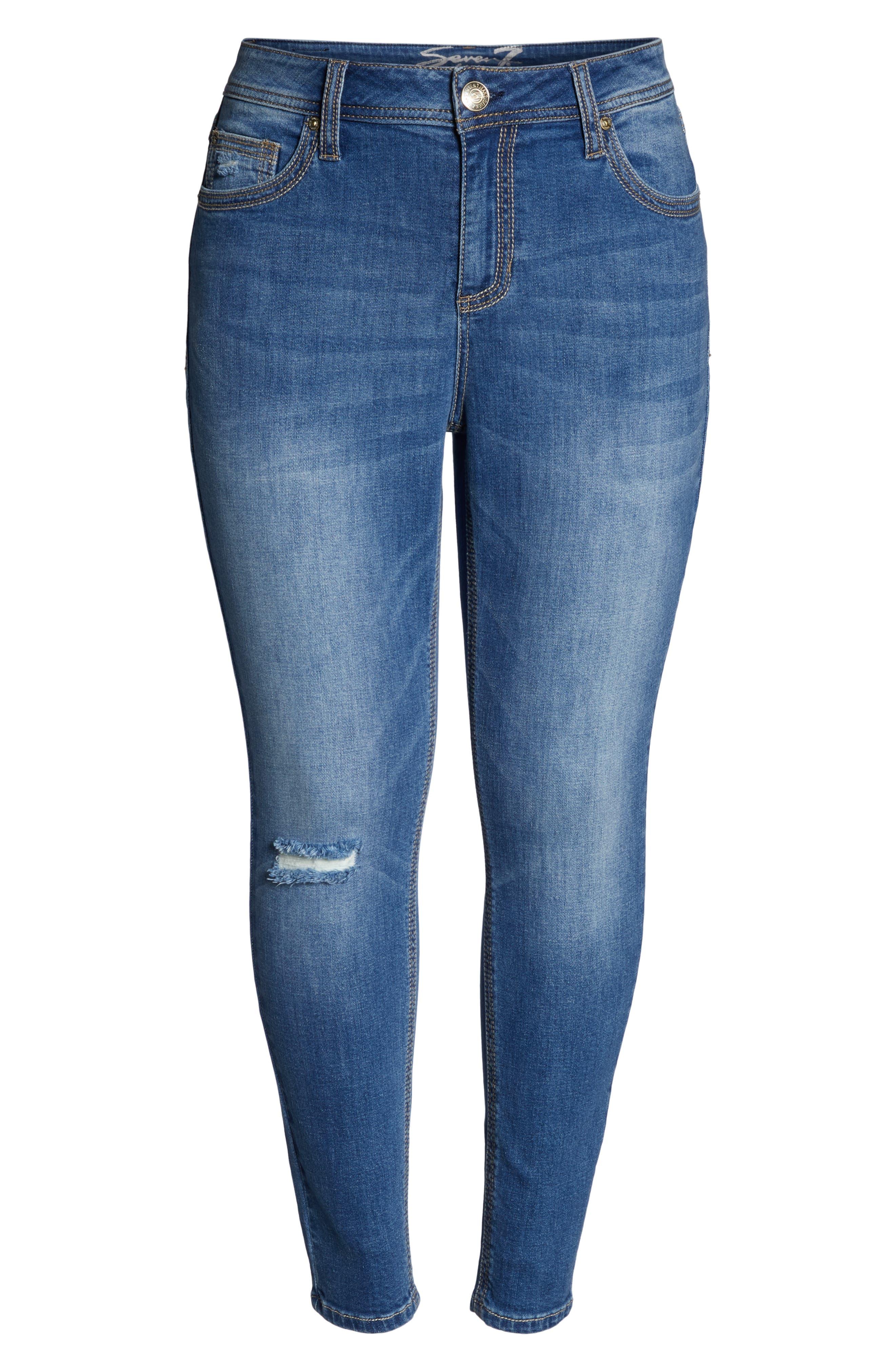 Rocker Skinny Jeans,                             Alternate thumbnail 7, color,                             LADYBIRD