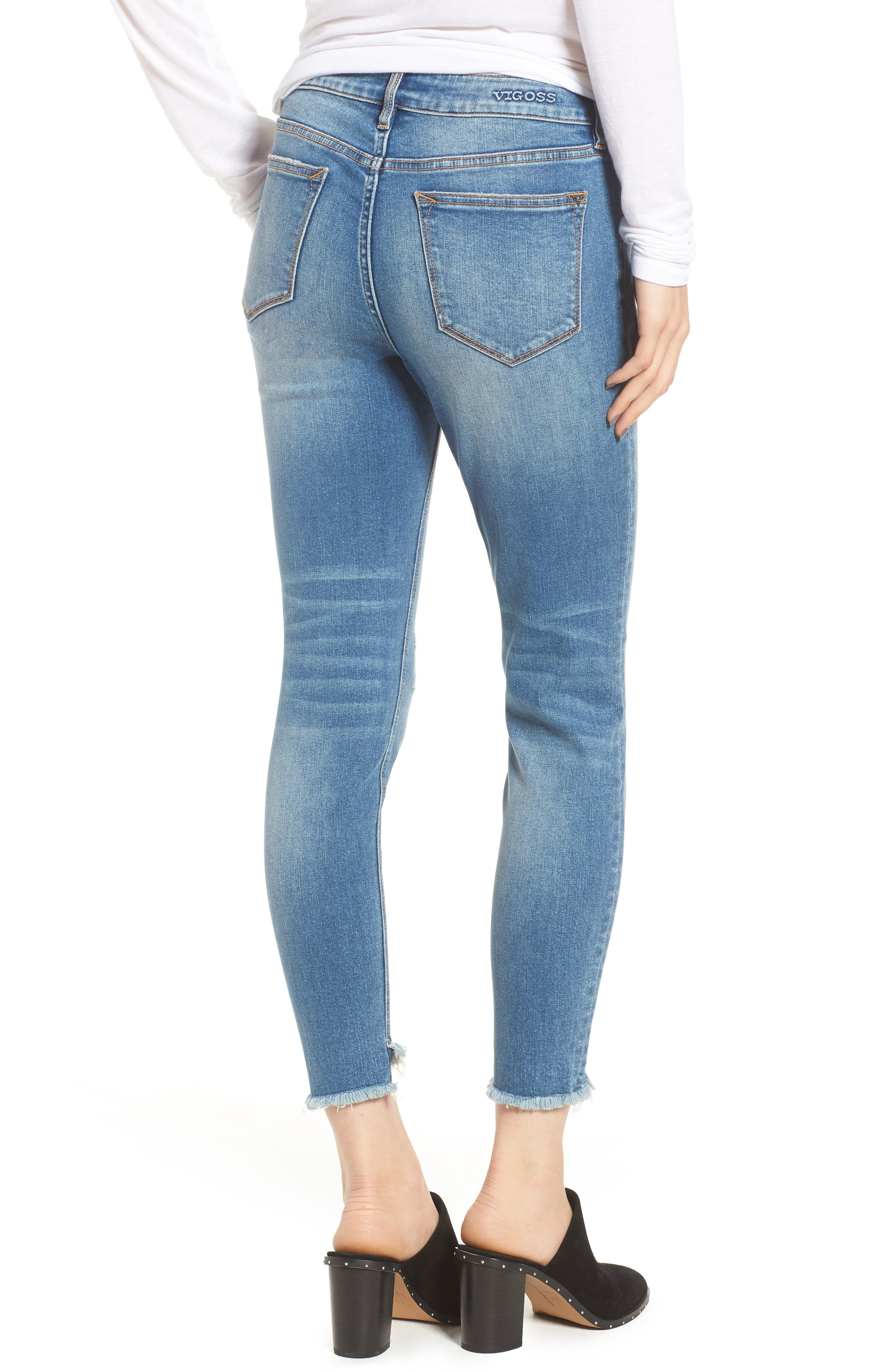 Marley Tulip Hem Ankle Skinny Jeans,                             Alternate thumbnail 2, color,                             400
