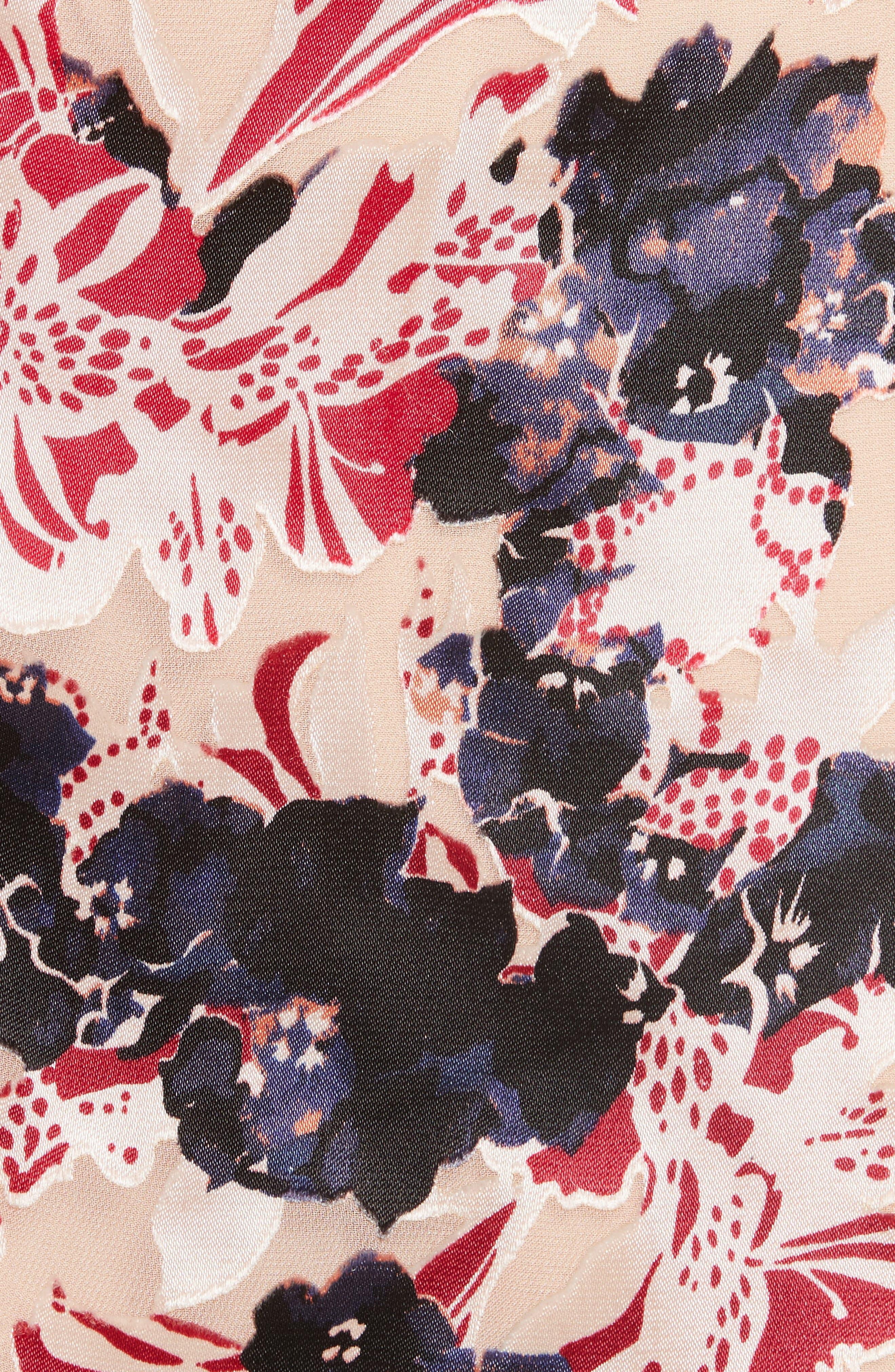 Lara Fit & Flare Dress,                             Alternate thumbnail 5, color,                             670
